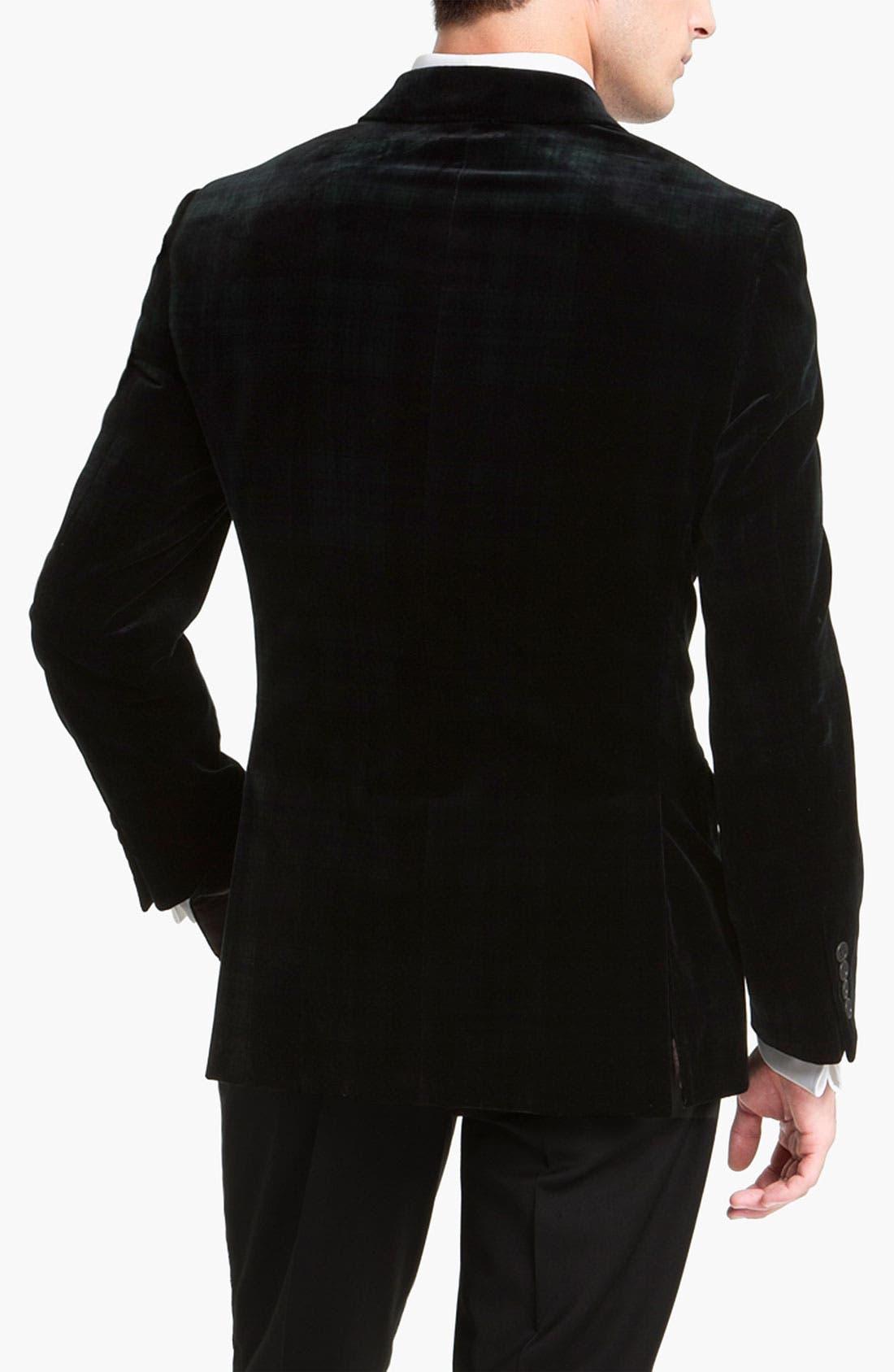 Alternate Image 2  - Joseph Abboud Plaid Velvet Blazer