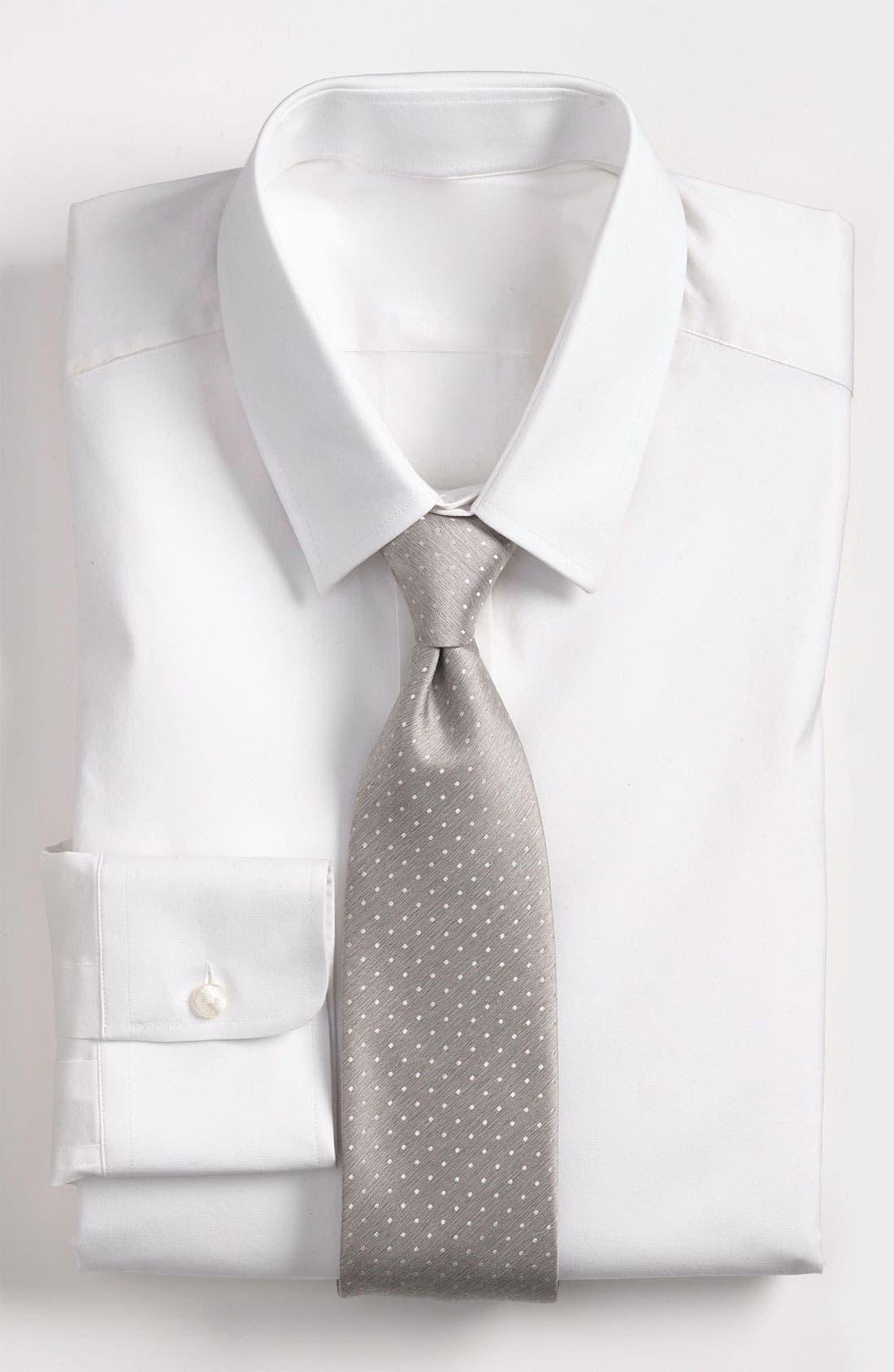 Main Image - Yves Saint Laurent Textured Dot Pattern Woven Silk Tie