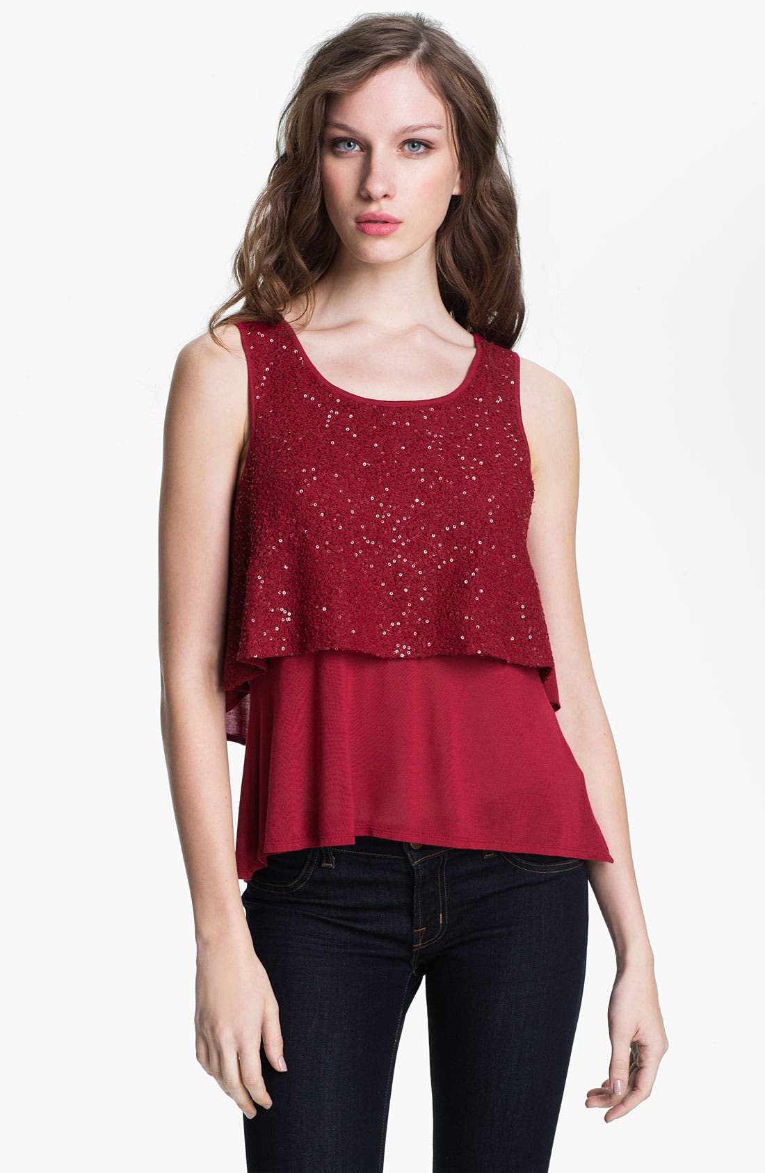 Main Image - Kenneth Cole New York 'Mallory' Sequin Front Tank