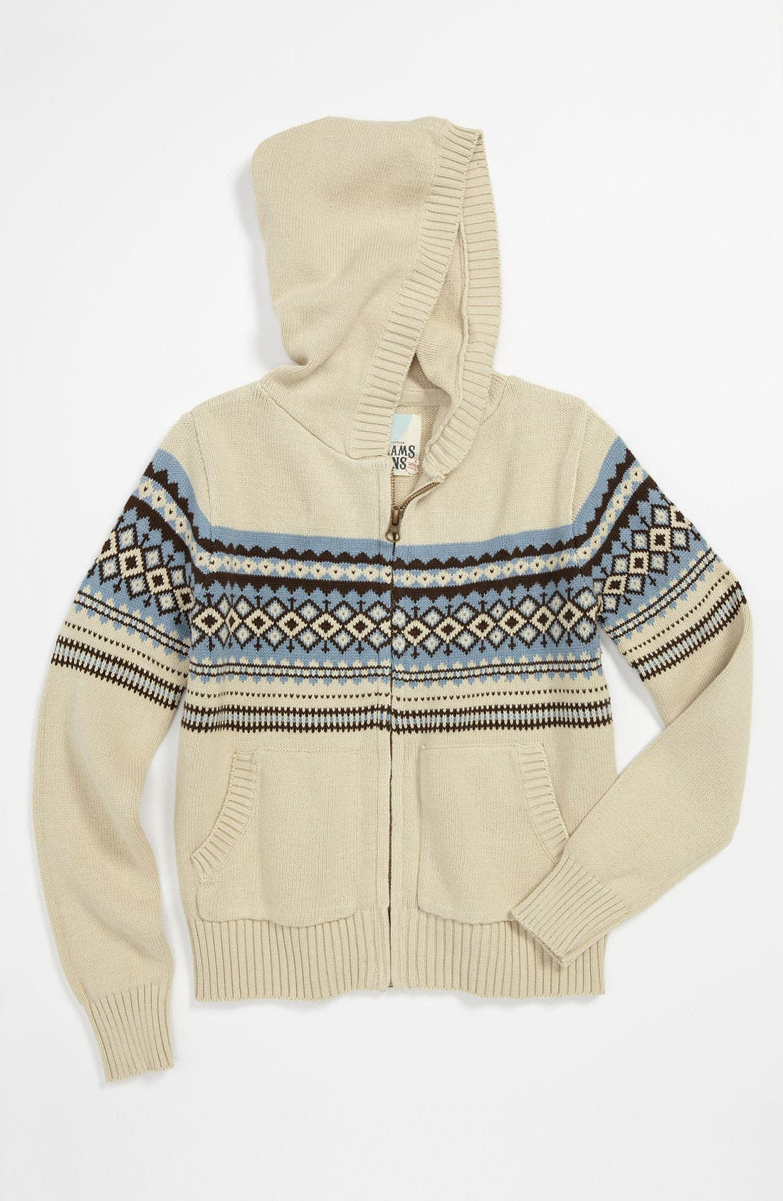 Main Image - Peek 'Fair Isle' Knit Hoodie (Toddler, Little Boys & Big Boys)