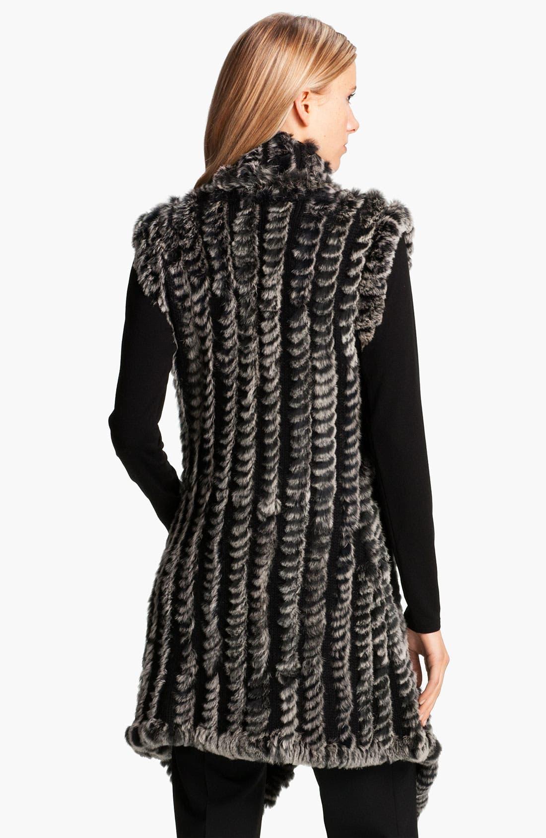 Alternate Image 2  - Alberto Makali Knit & Genuine Rabbit Fur Vest