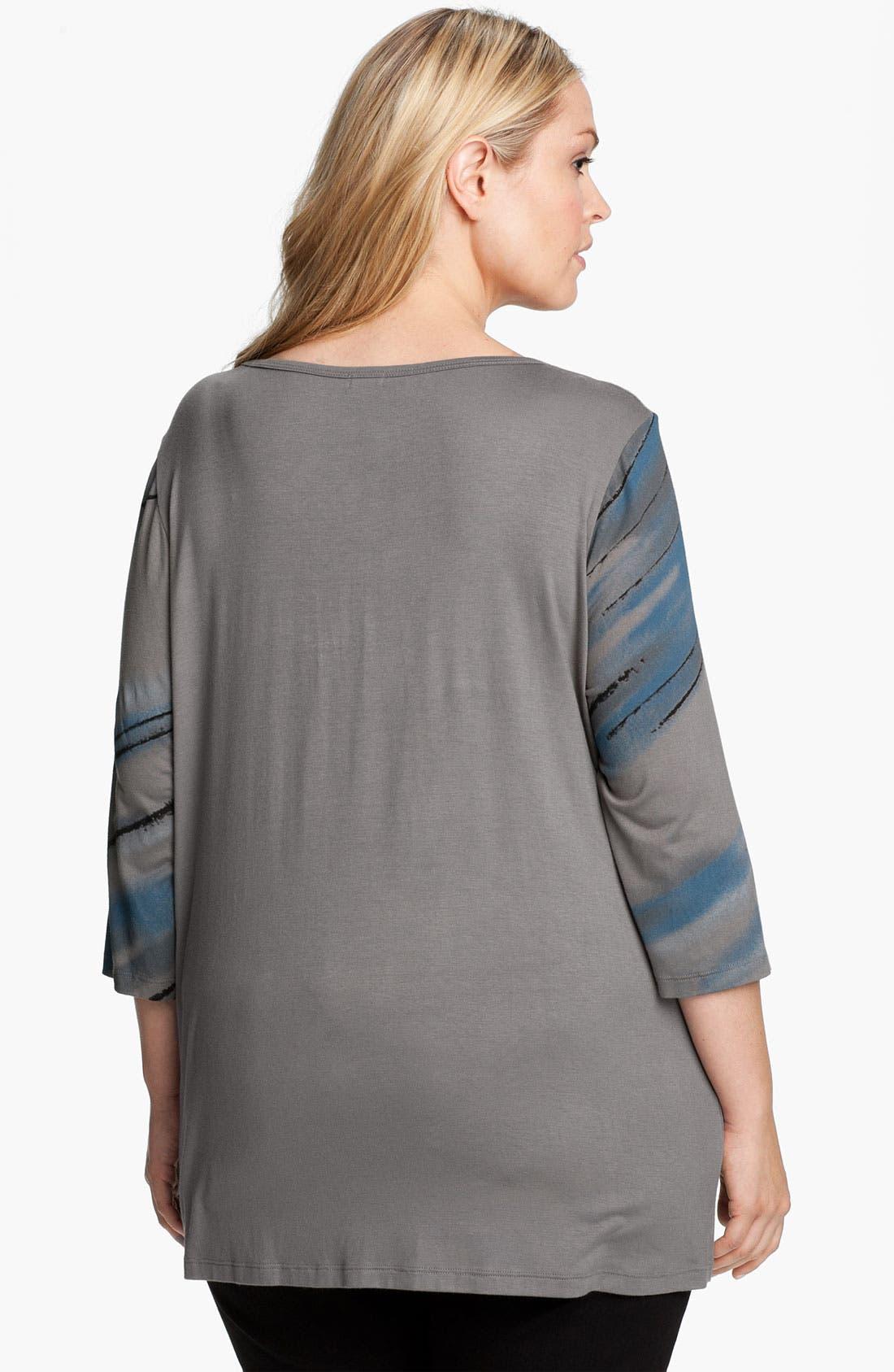 Alternate Image 2  - Edista Embellished Drape Neck Top (Plus)