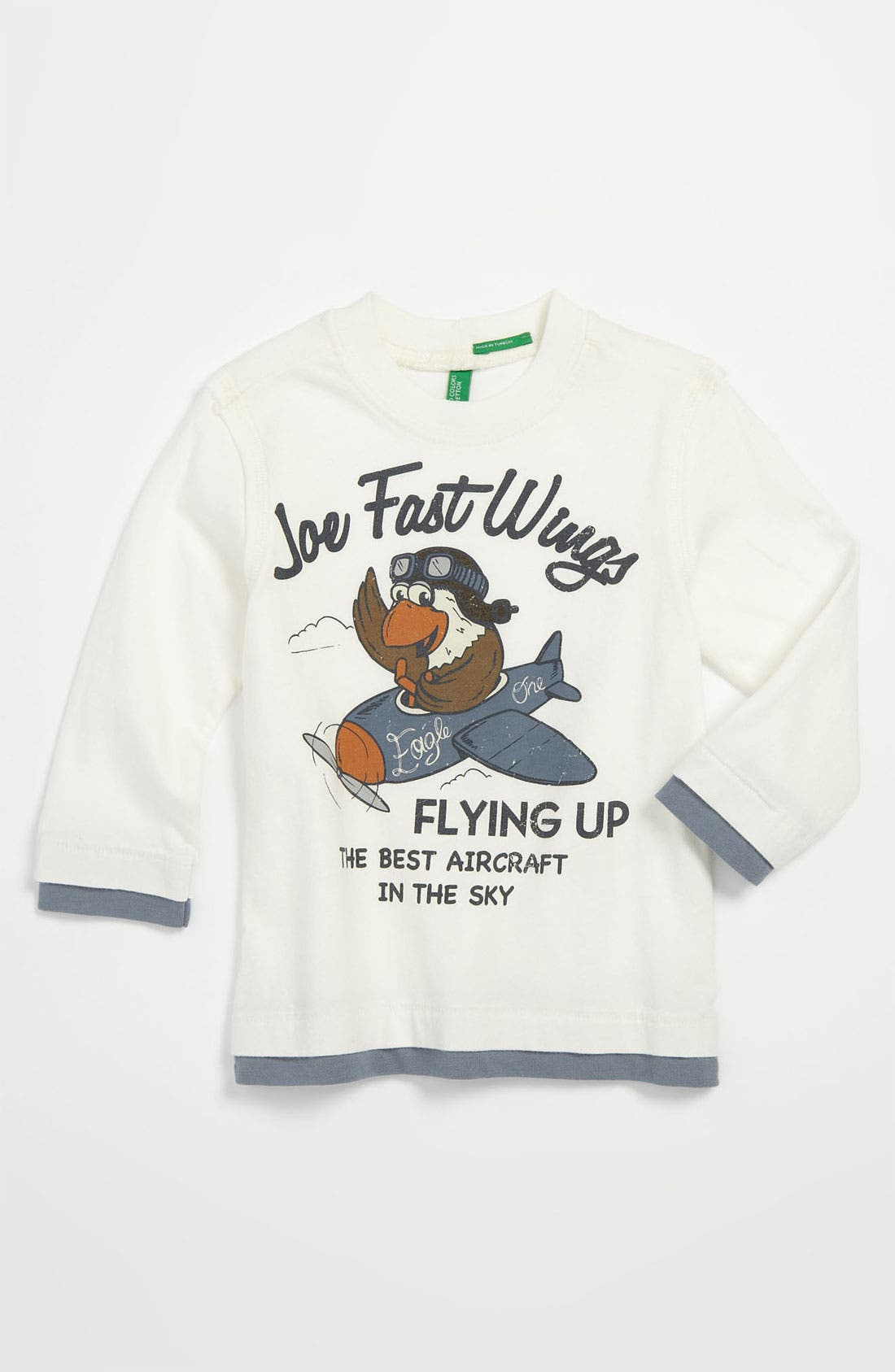 Alternate Image 1 Selected - United Colors of Benetton Kids Airplane Screenprint T-Shirt (Toddler)