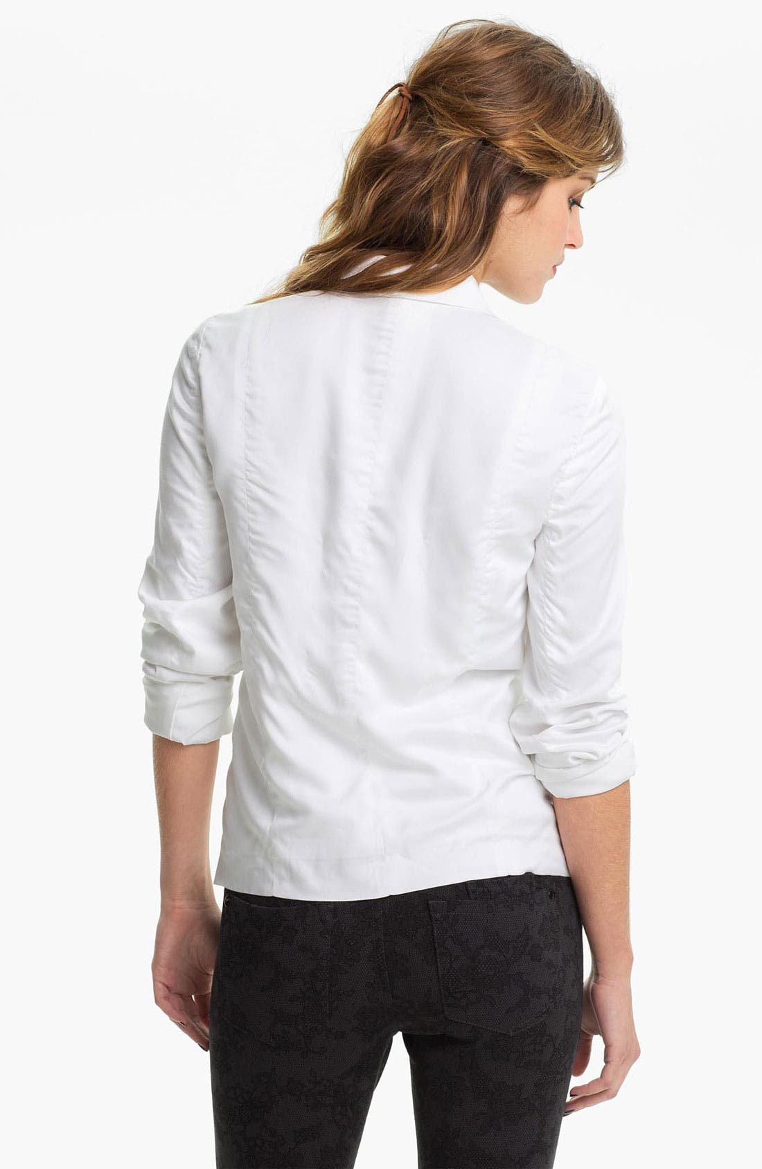 Alternate Image 2  - Frenchi® Open Front Slouchy Blazer (Juniors)