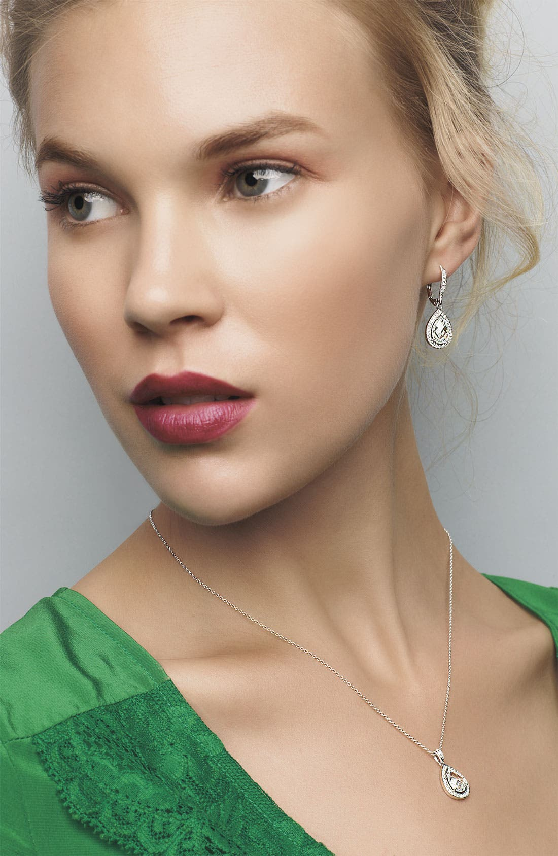 Alternate Image 2  - Nadri Teardrop Pendant Necklace
