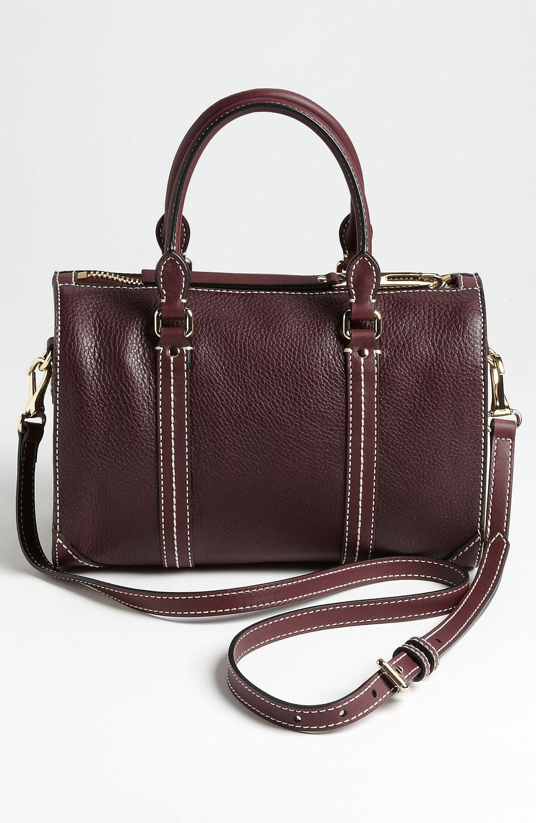Alternate Image 4  - Burberry 'Alchester -Small' Leather Bowling Bag