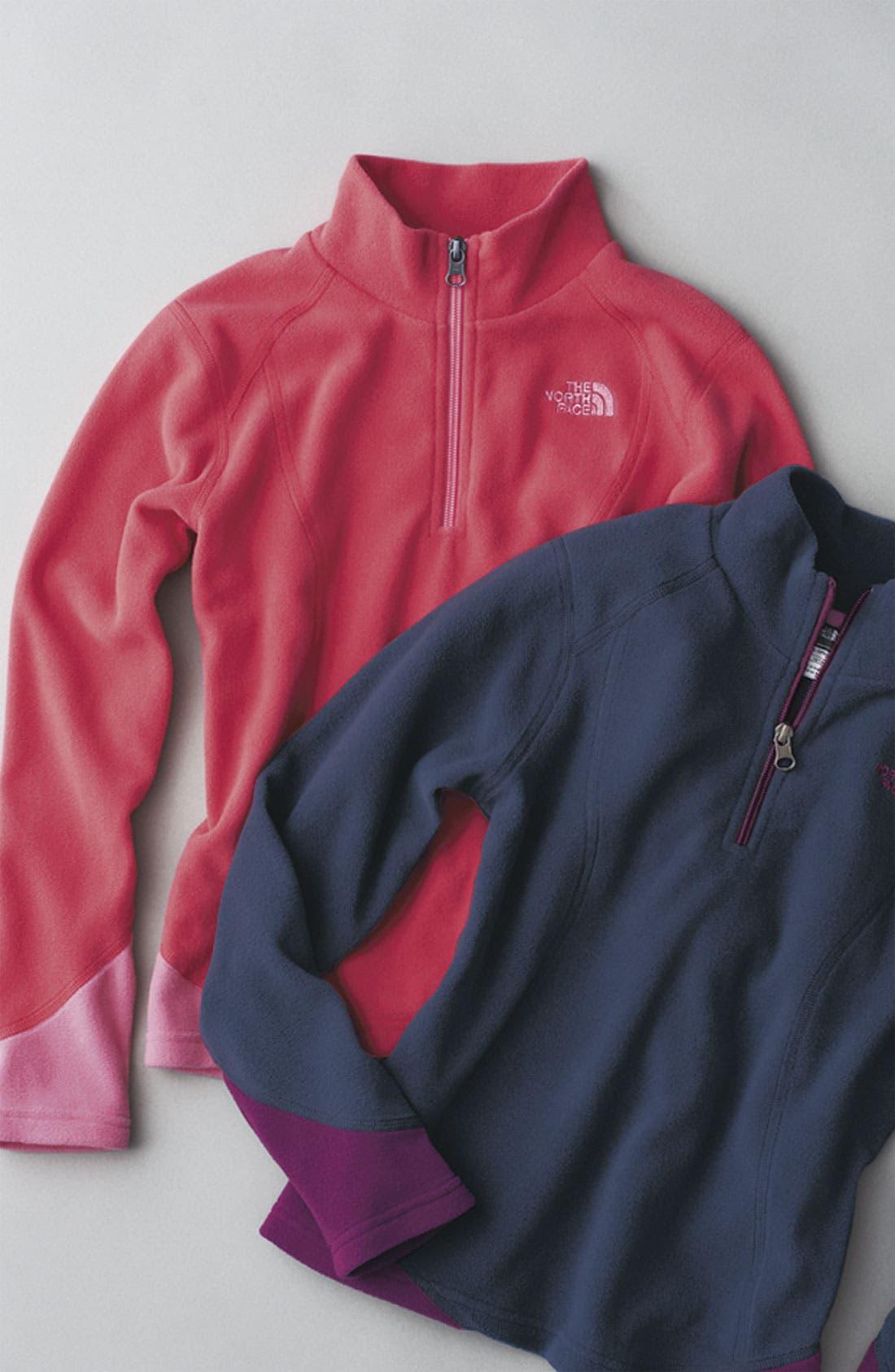 Alternate Image 2  - The North Face 'Glacier' Half Zip Fleece Jacket (Big Girls)