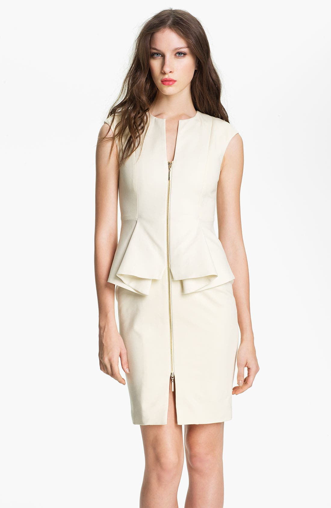 Main Image - Ted Baker London Cotton Blend Sheath Dress
