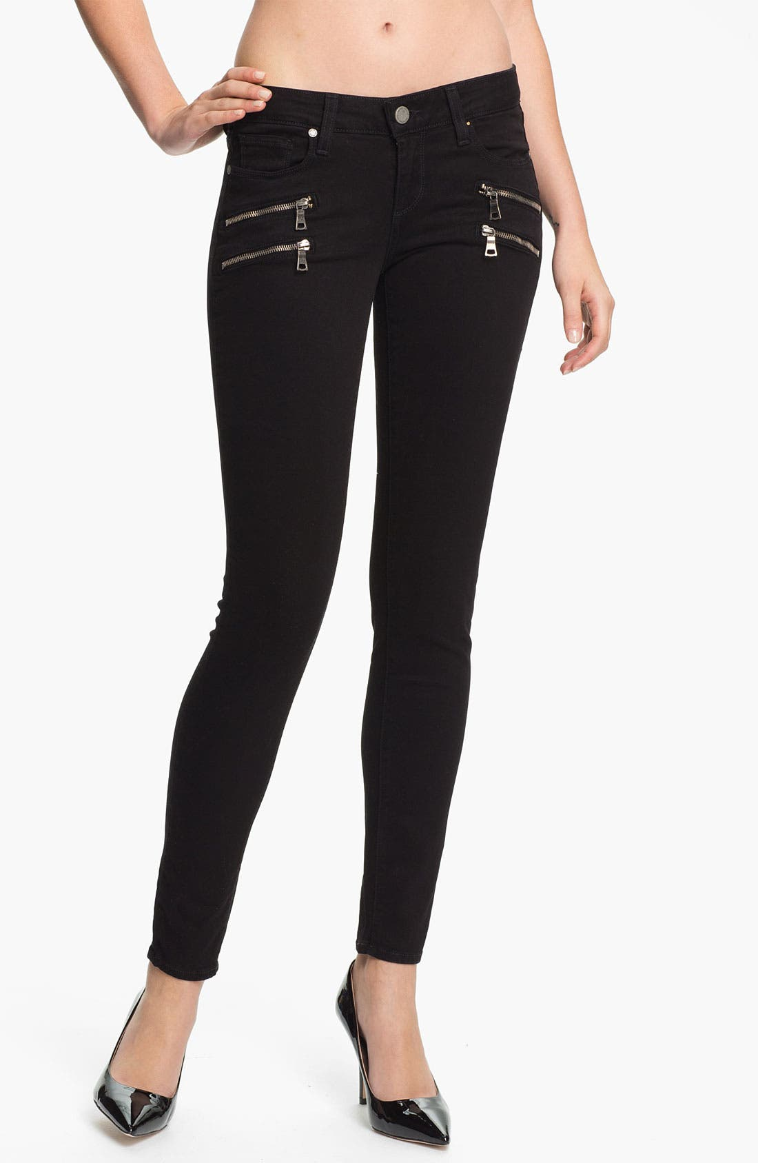 Main Image - Paige Denim 'Edgemont' Skinny Jeans (Black)