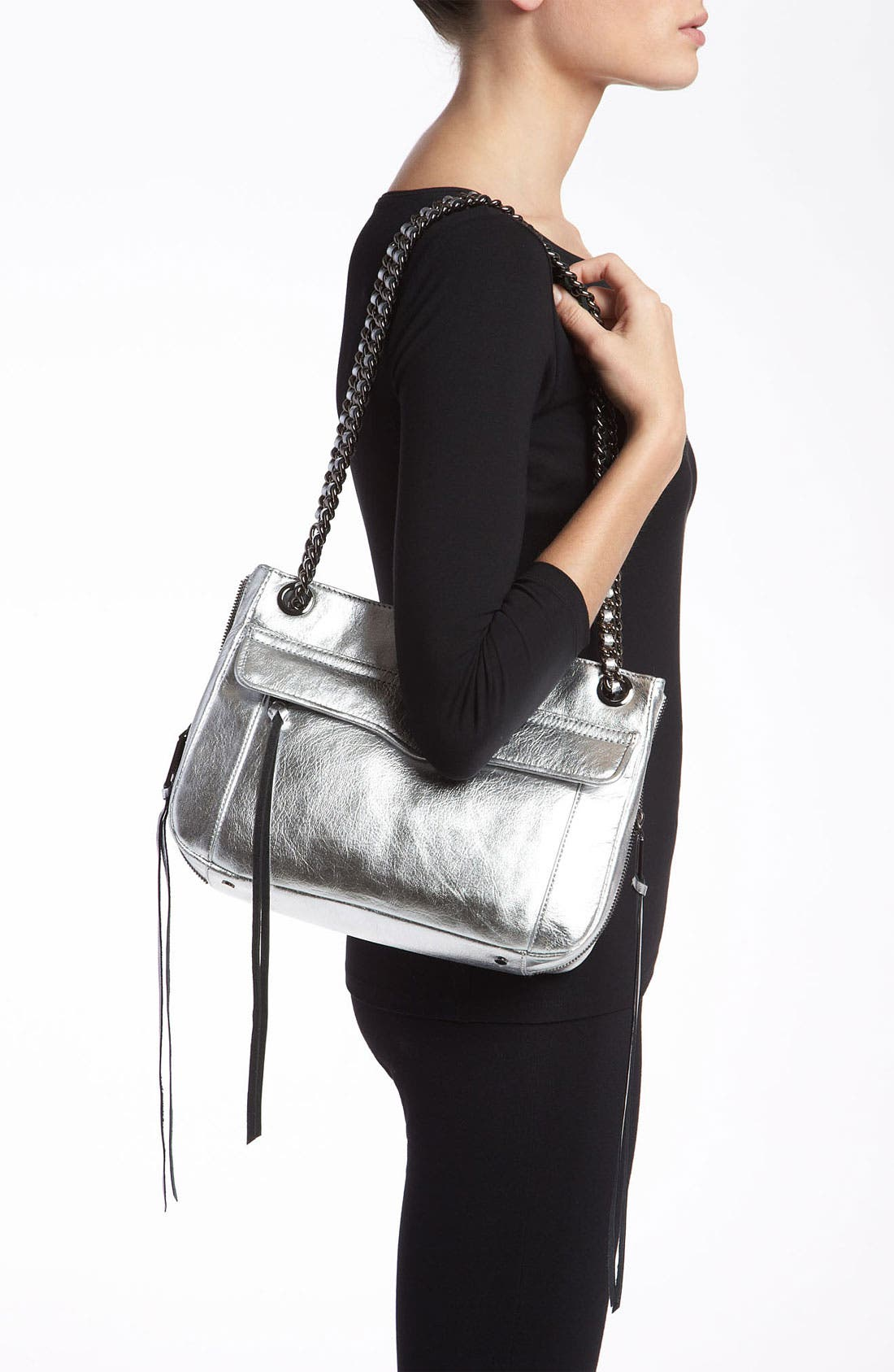 Alternate Image 2  - Rebecca Minkoff 'Swing' Metallic Leather Shoulder Bag