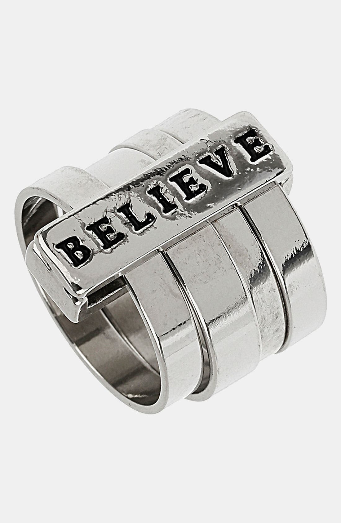 Alternate Image 1 Selected - Topshop 'Believe' Bar Ring