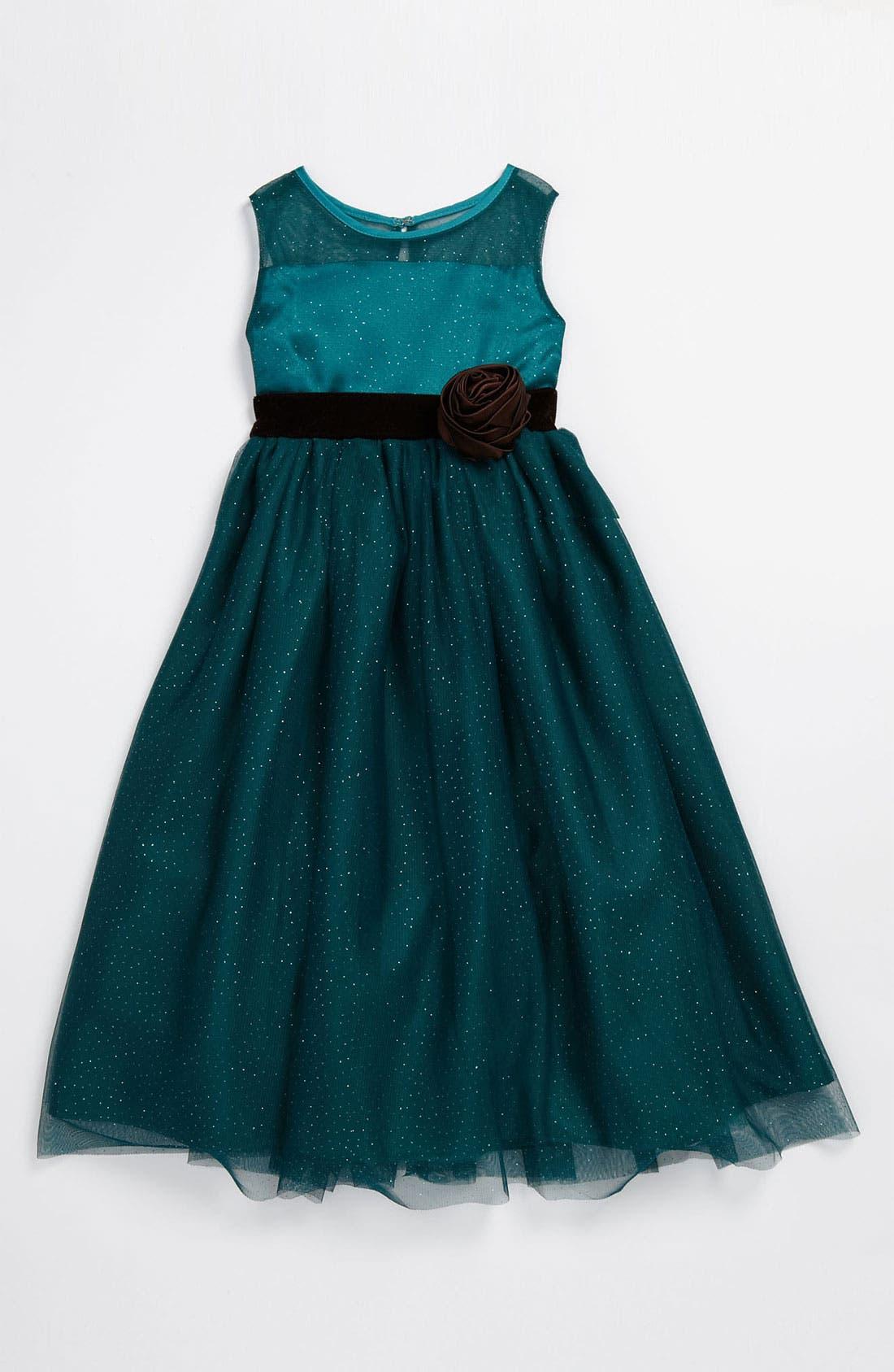 Alternate Image 1 Selected - Dorissa Glitter Mesh Dress (Little Girls)