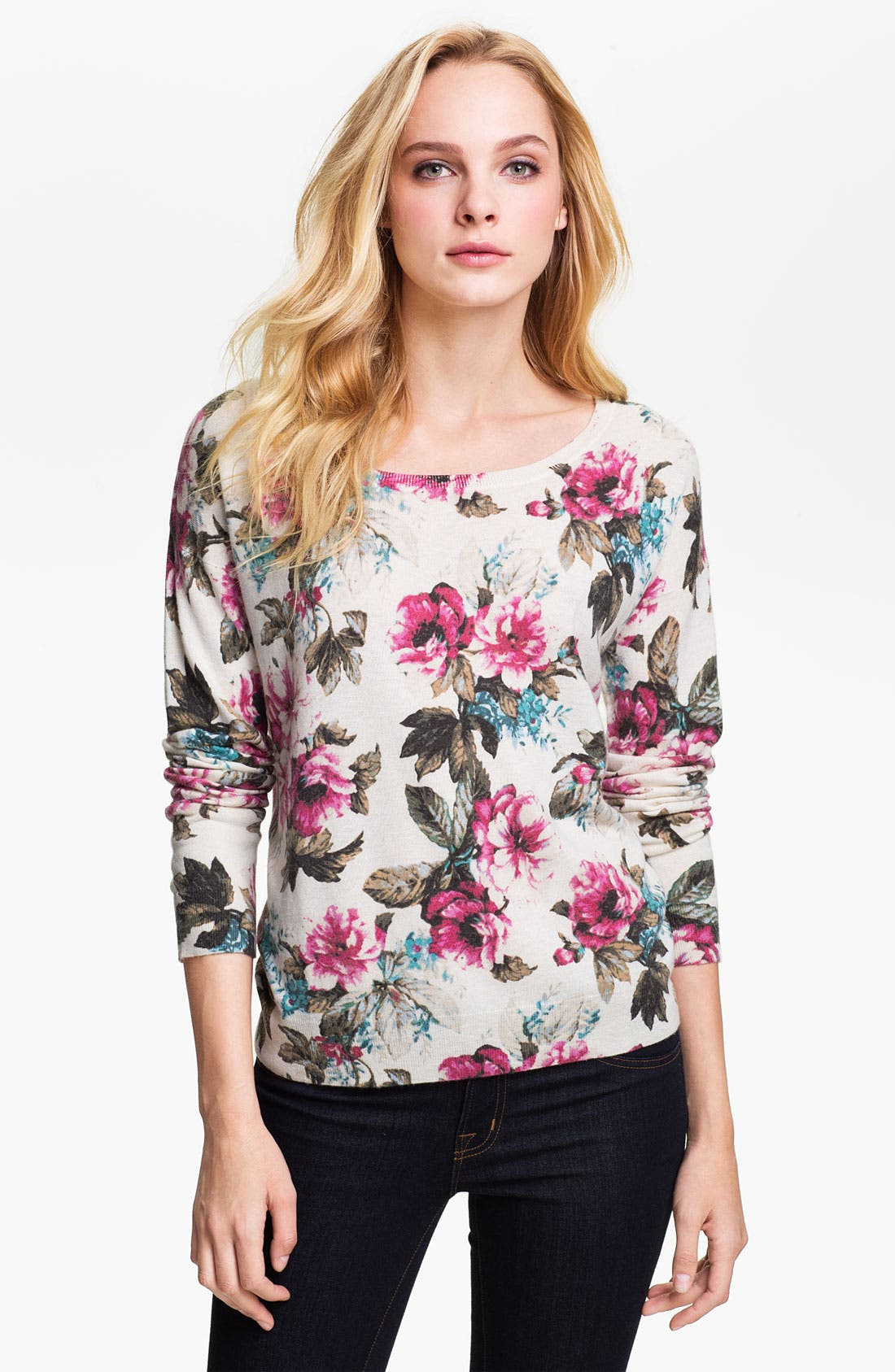 Alternate Image 1 Selected - Joie 'Shelsea' Floral Print Sweater