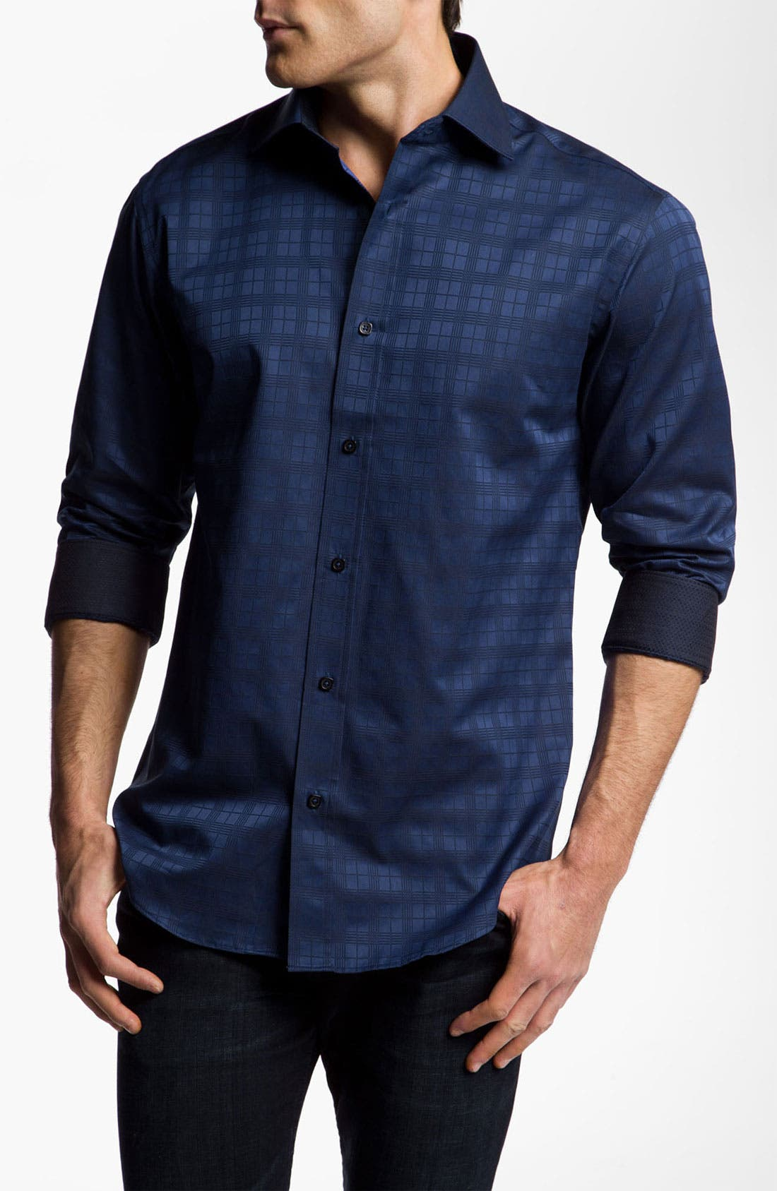 Main Image - Bugatchi Uomo Shaped Fit Sport Shirt