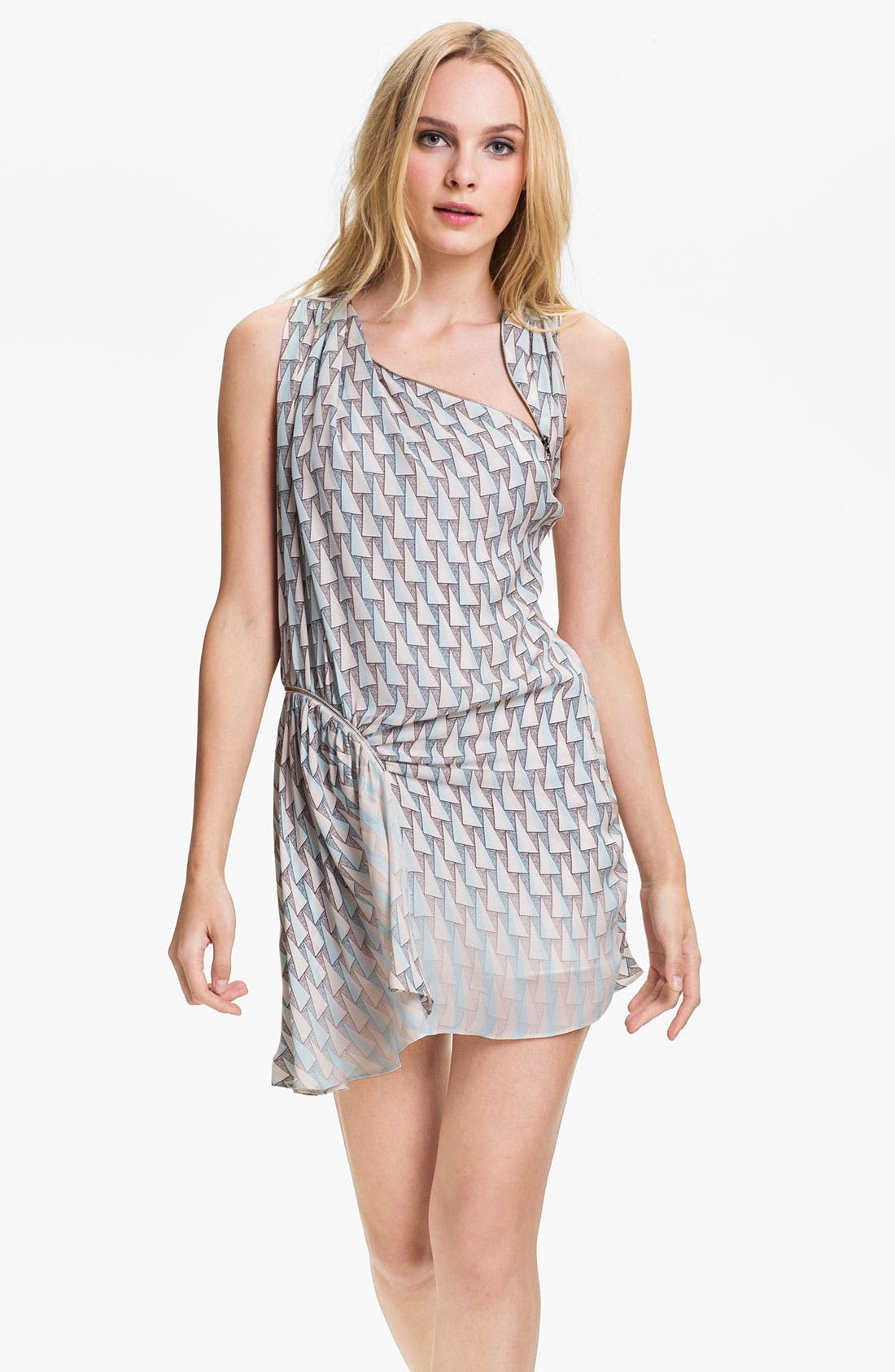 Main Image - Rebecca Minkoff 'Cheer' Zip Detail Silk Dress