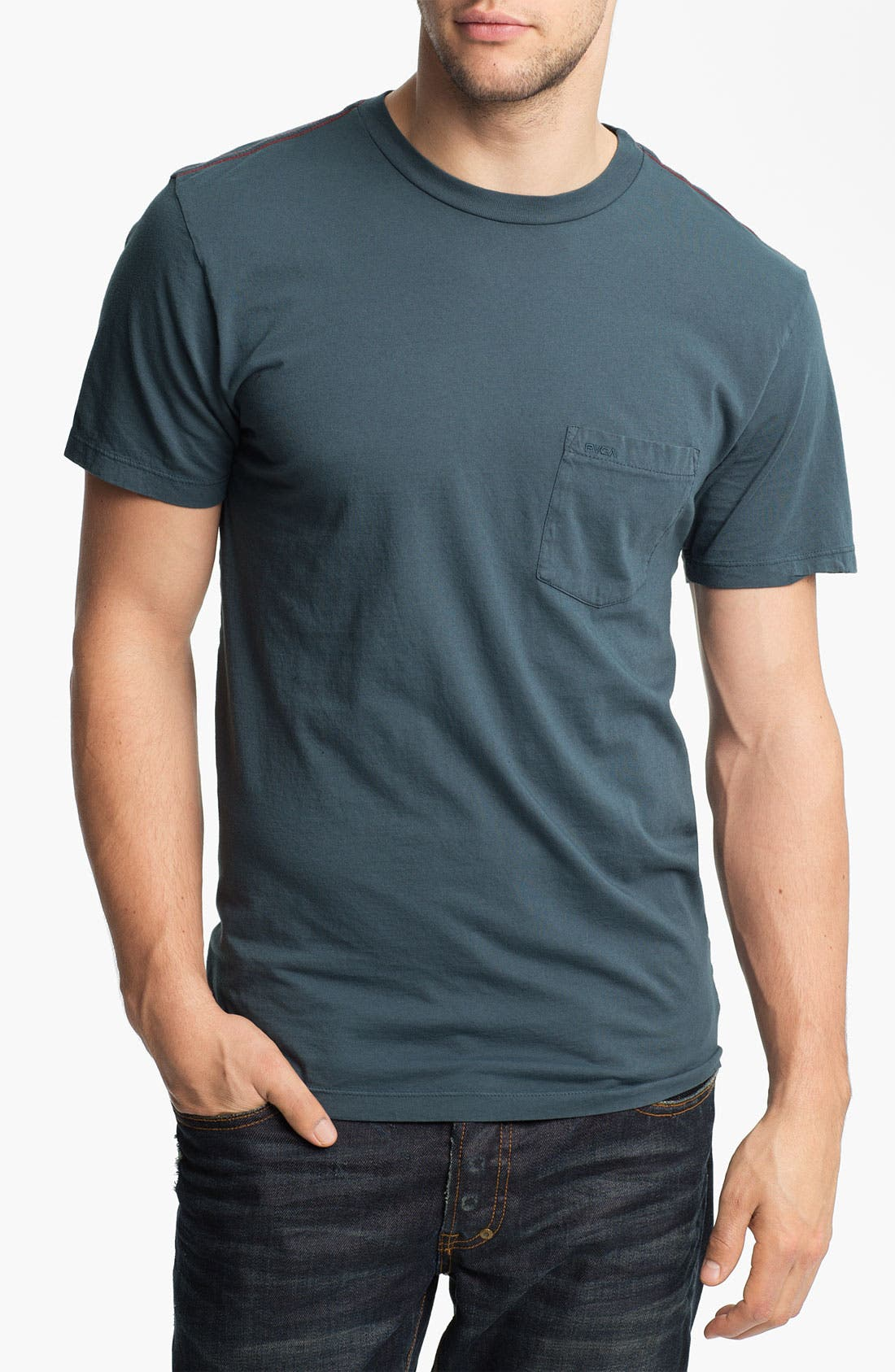 Alternate Image 1 Selected - RVCA Pigment Dyed Crewneck T-Shirt