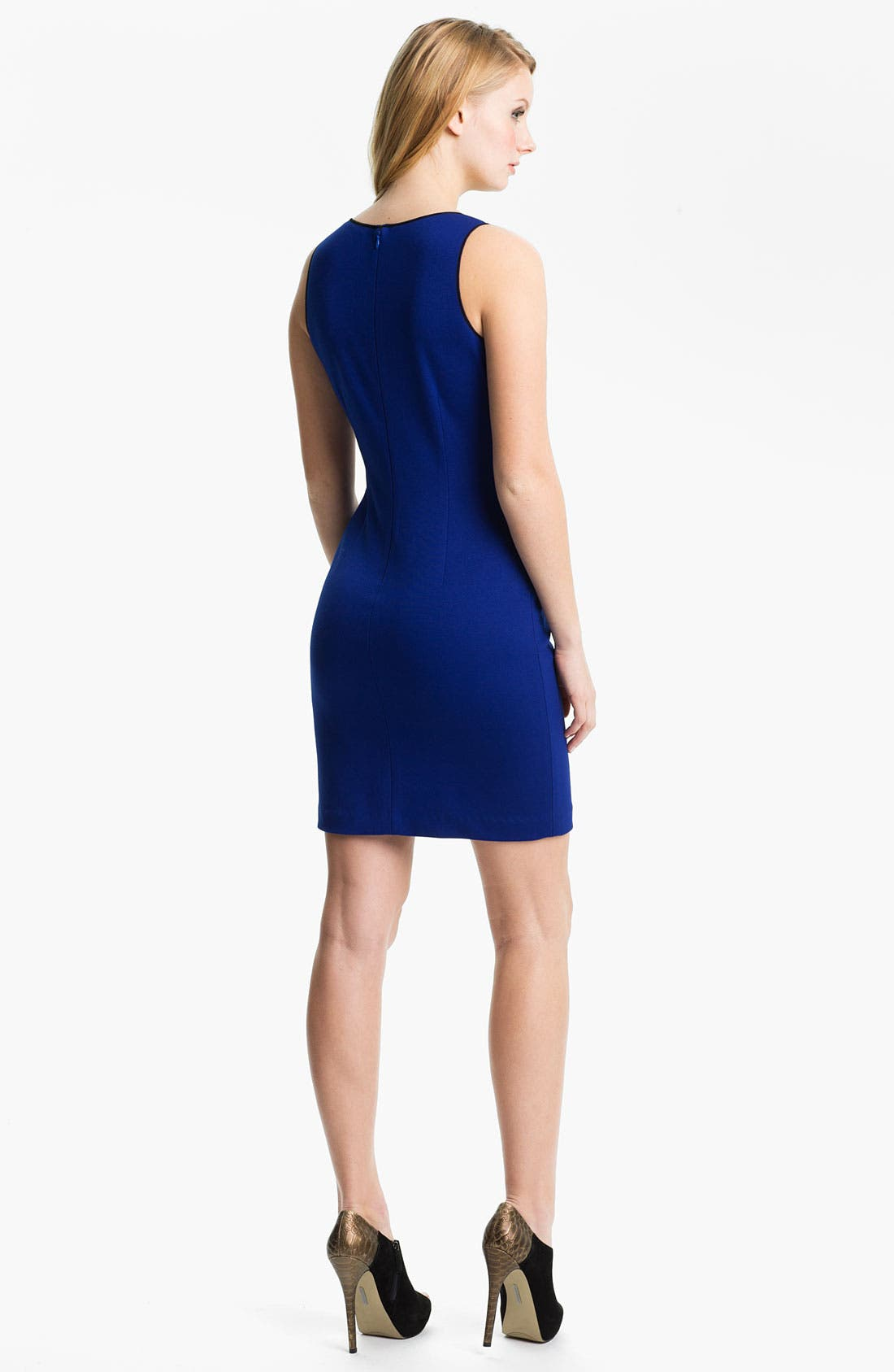 Alternate Image 2  - Cynthia Steffe Mesh Cutout Ponte Sheath Dress