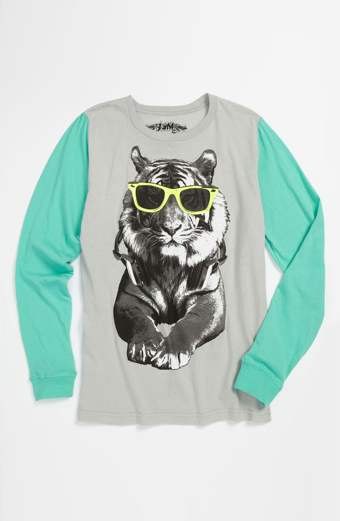 Alternate Image 1 Selected - Jem 'Cool Cat - Color Glow™' T-Shirt (Big Boys)