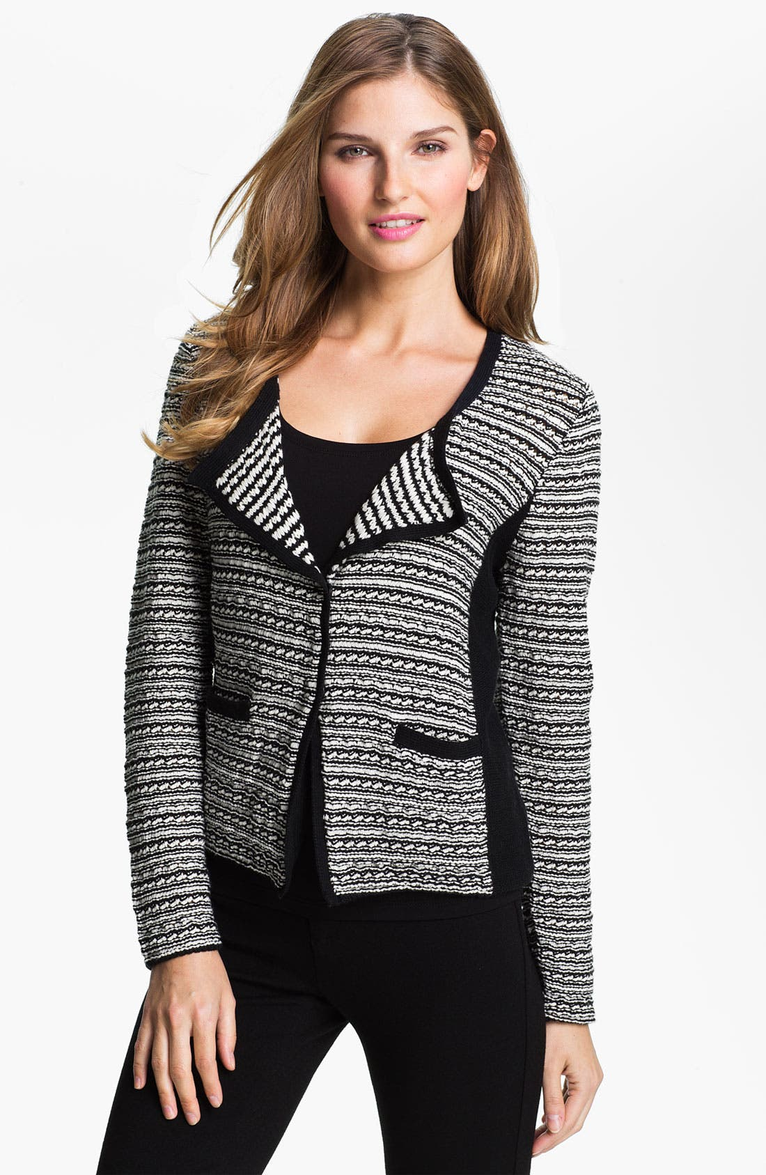 Alternate Image 1 Selected - Fever Snap Front Sweater Jacket