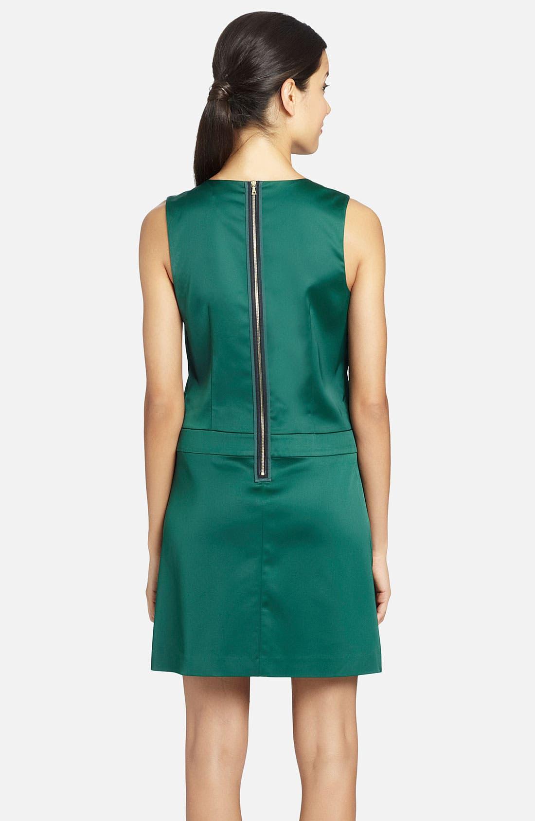 Alternate Image 2  - Cynthia Steffe 'Ava' Art Deco Pattern Satin Dress