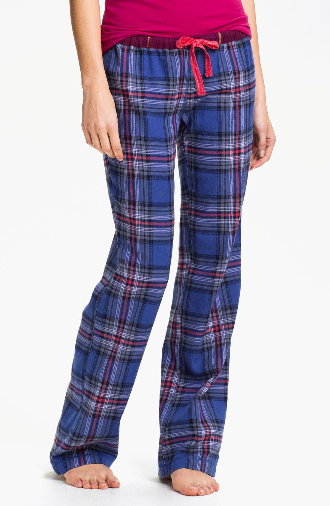 Main Image - BP. 'Union' Flannel Lounge Pants (Juniors)