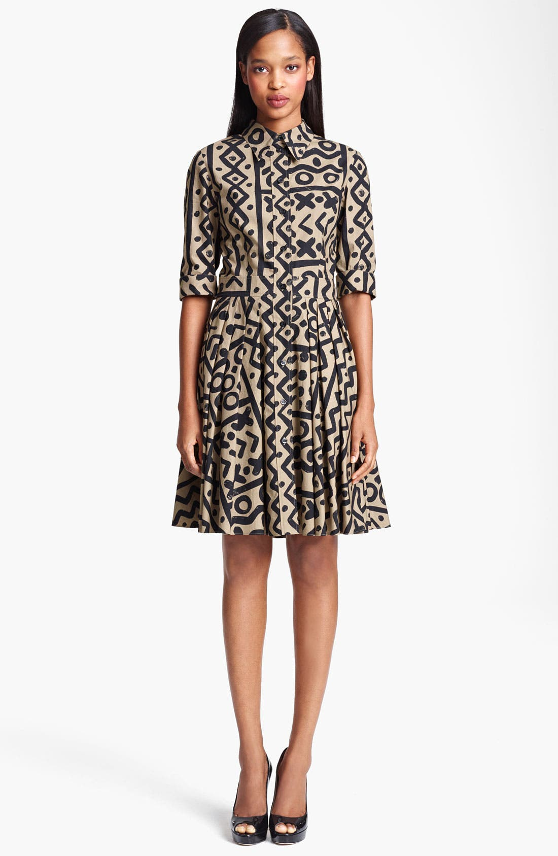 Alternate Image 1 Selected - Moschino Cheap & Chic Tribal Print Shirtdress