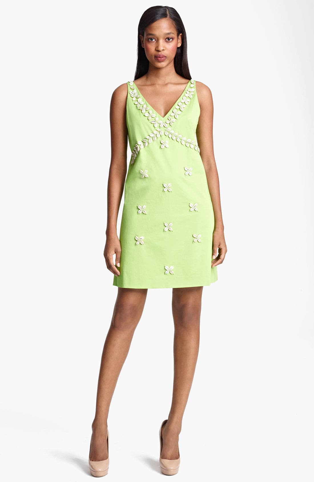 Alternate Image 1 Selected - Moschino Cheap & Chic Shell Embroidered Dress