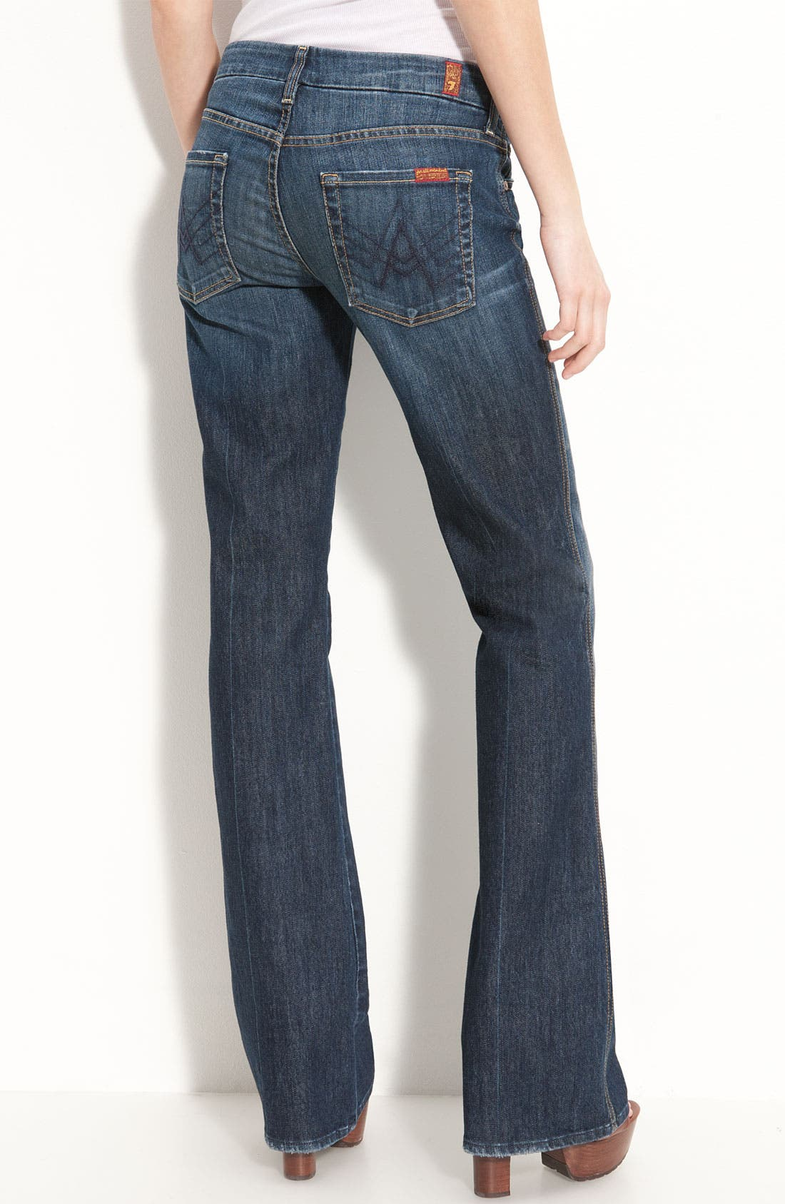 Alternate Image 2  - 7 For All Mankind® Stretch Denim Bootcut Jeans (Nouveau New York) (Petite)