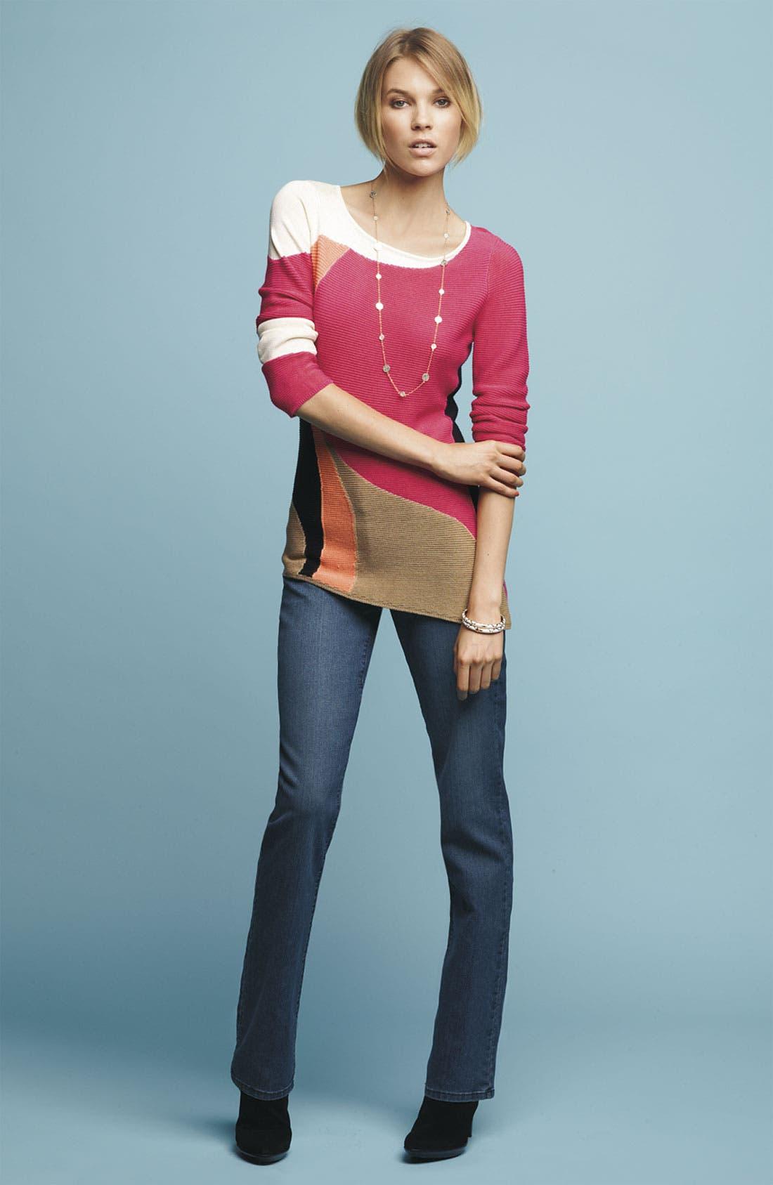 Alternate Image 1 Selected - Nic + Zoe Sweater & NYDJ Skinny Jeans