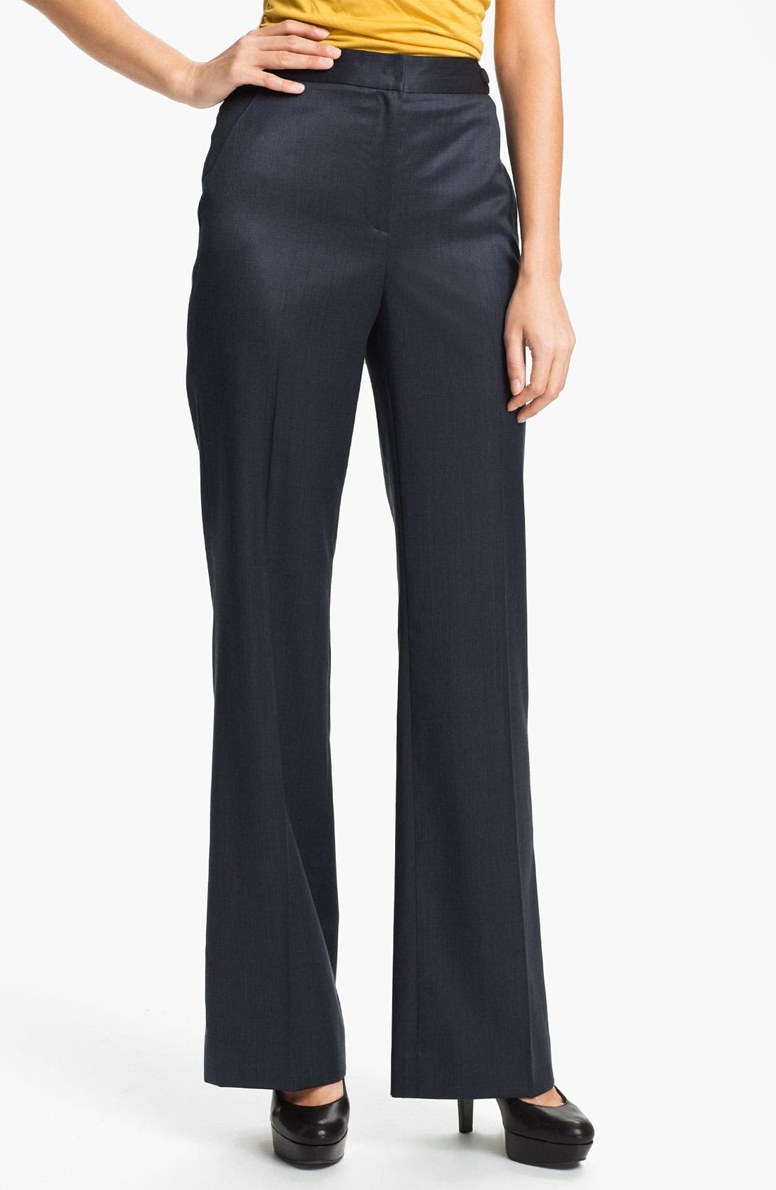 Alternate Image 1 Selected - Classiques Entier® High Waist Wool Trousers