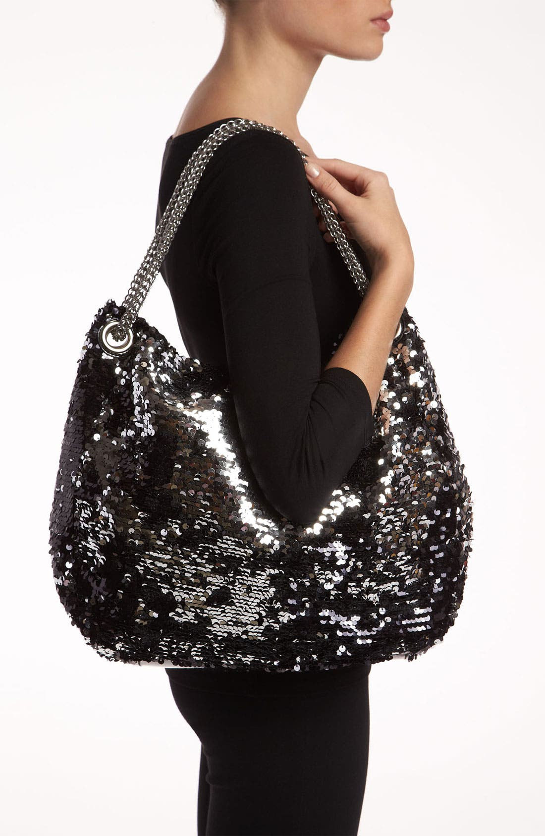 Alternate Image 2  - Melie Bianco 'Stacy' Flip Sequin Slouchy Hobo