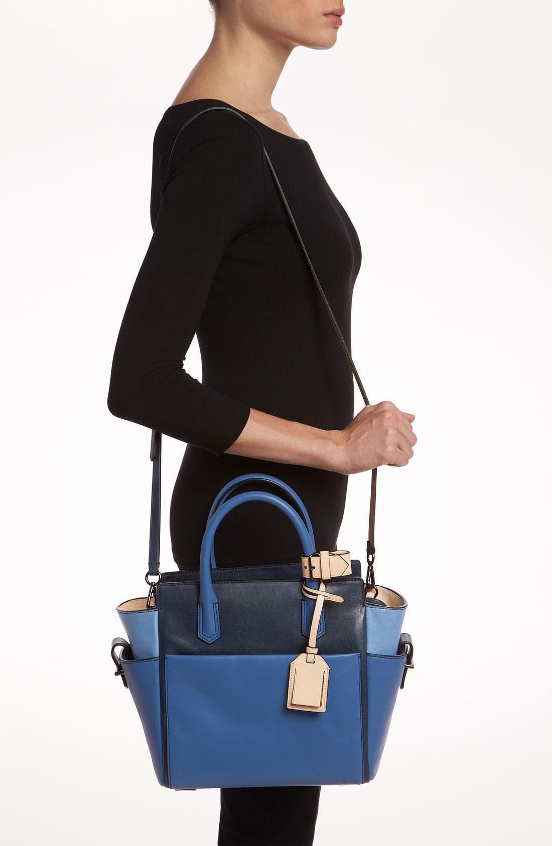 Alternate Image 2  - Reed Krakoff 'Atlantique - Mini' Colorblock Leather Satchel