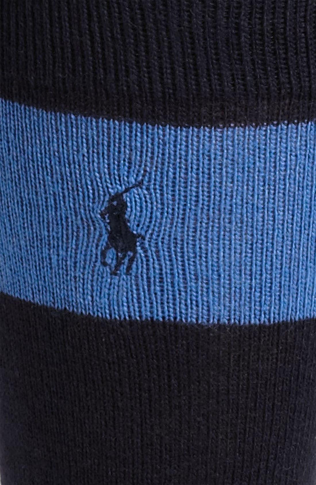 Alternate Image 2  - Polo Ralph Lauren Rugby Stripe Socks