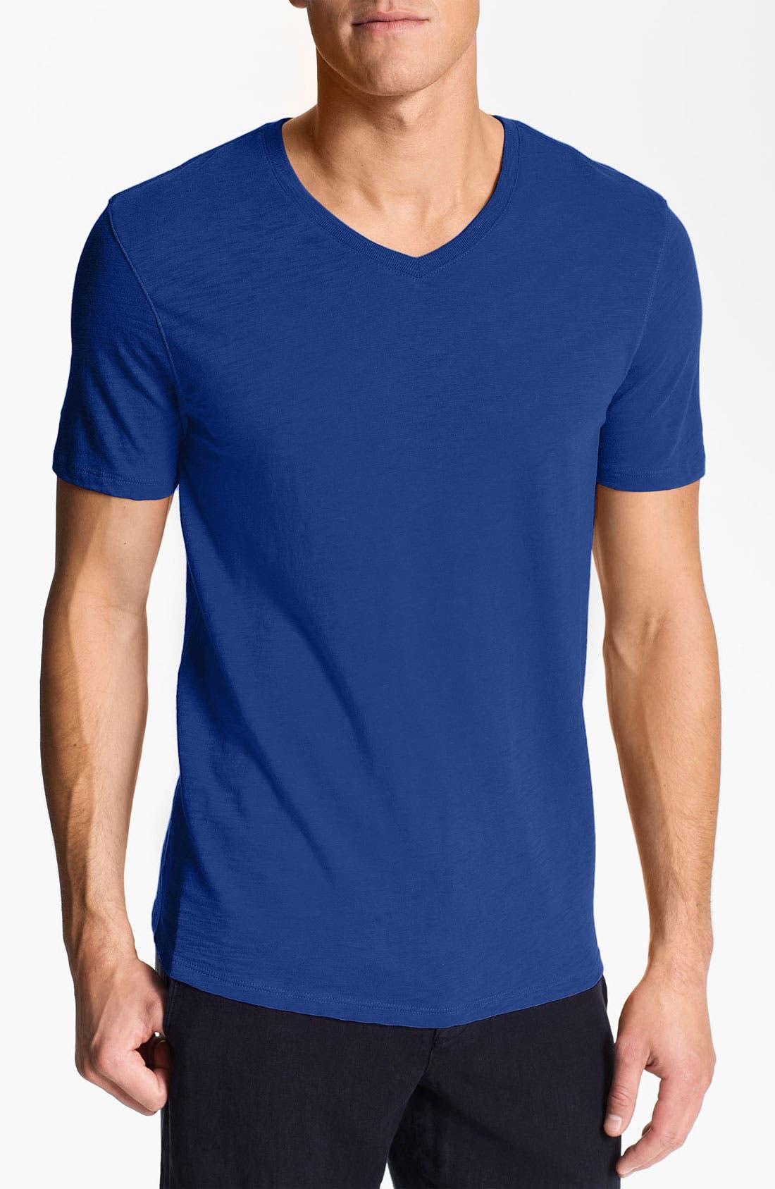 Main Image - Vince V-Neck Slub Knit T-Shirt