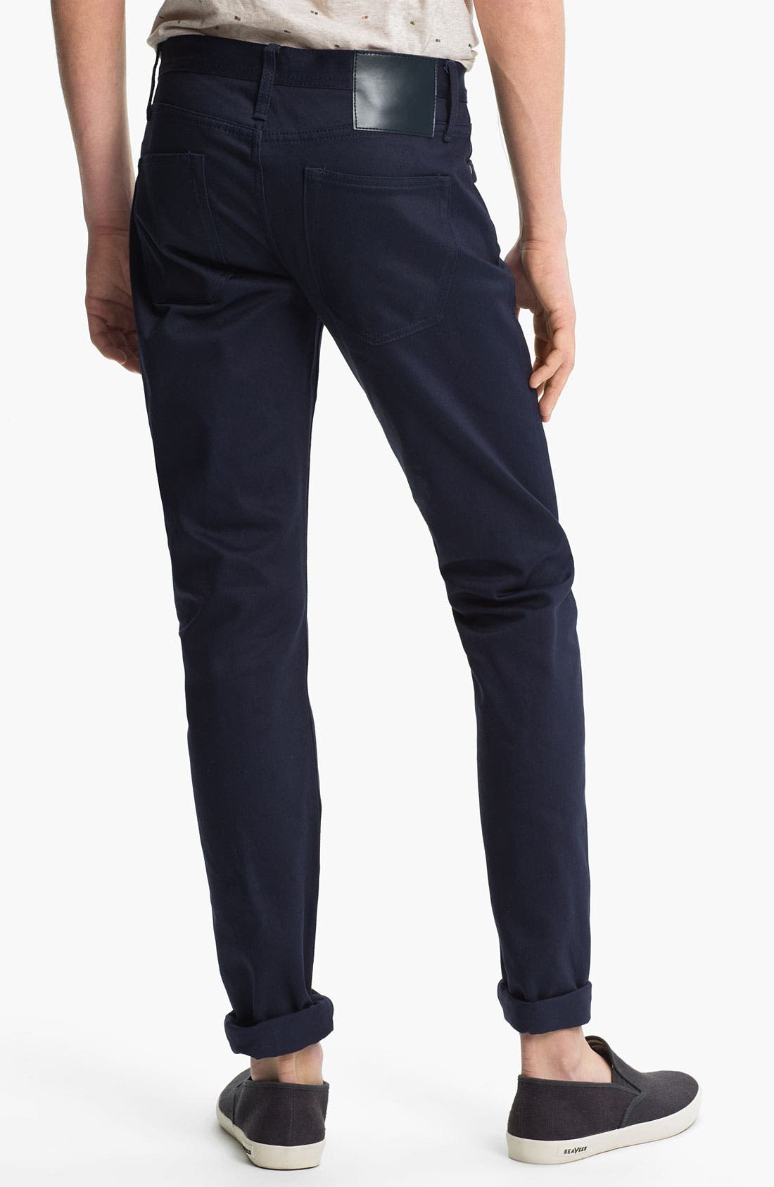 Main Image - The Unbranded Brand 'UB108' Skinny Fit Selvedge Chinos (Online Exclusive)