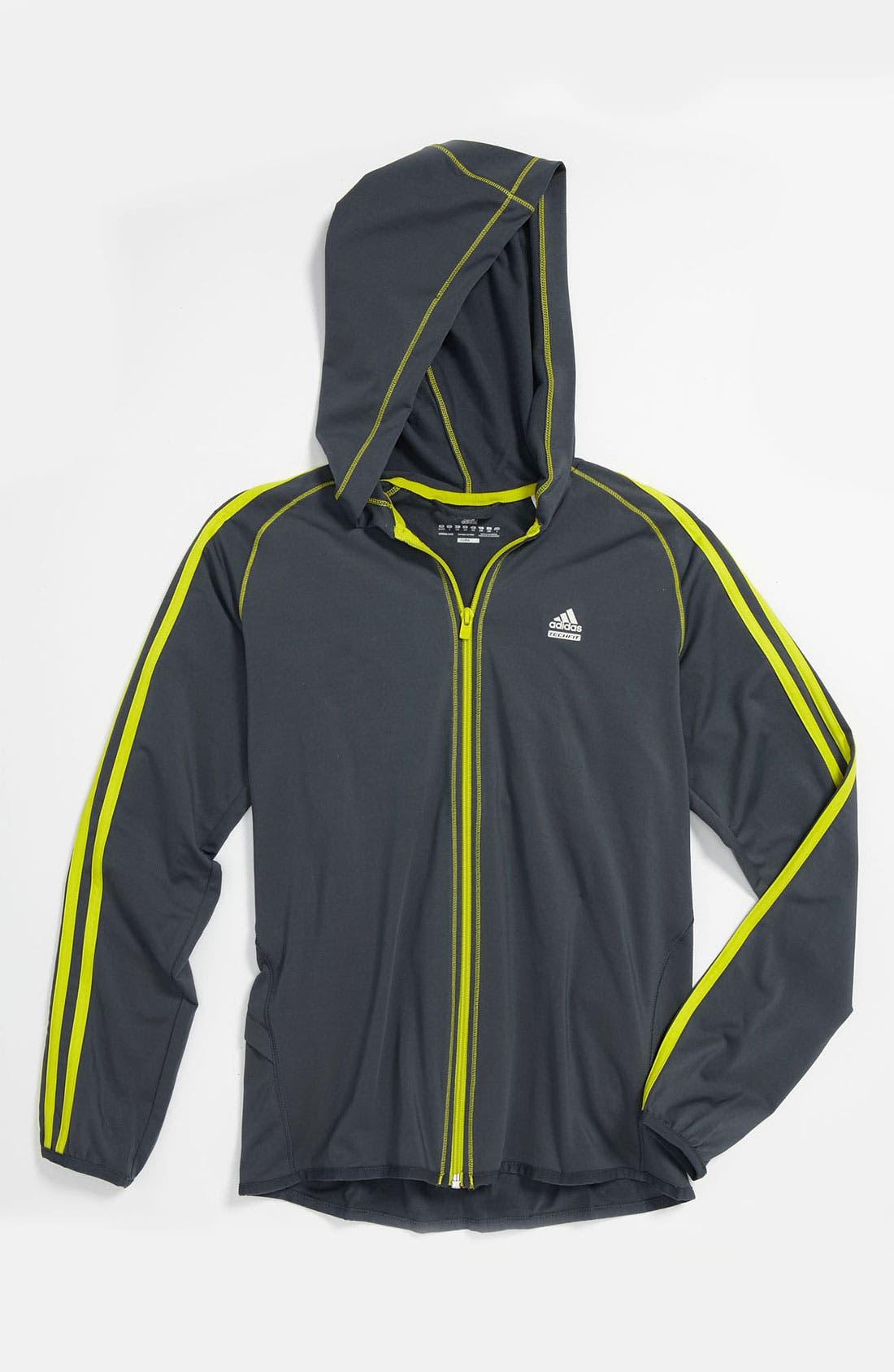 Alternate Image 1 Selected - adidas 'Techfit™' CLIMALITE® Hoodie (Big Boys)