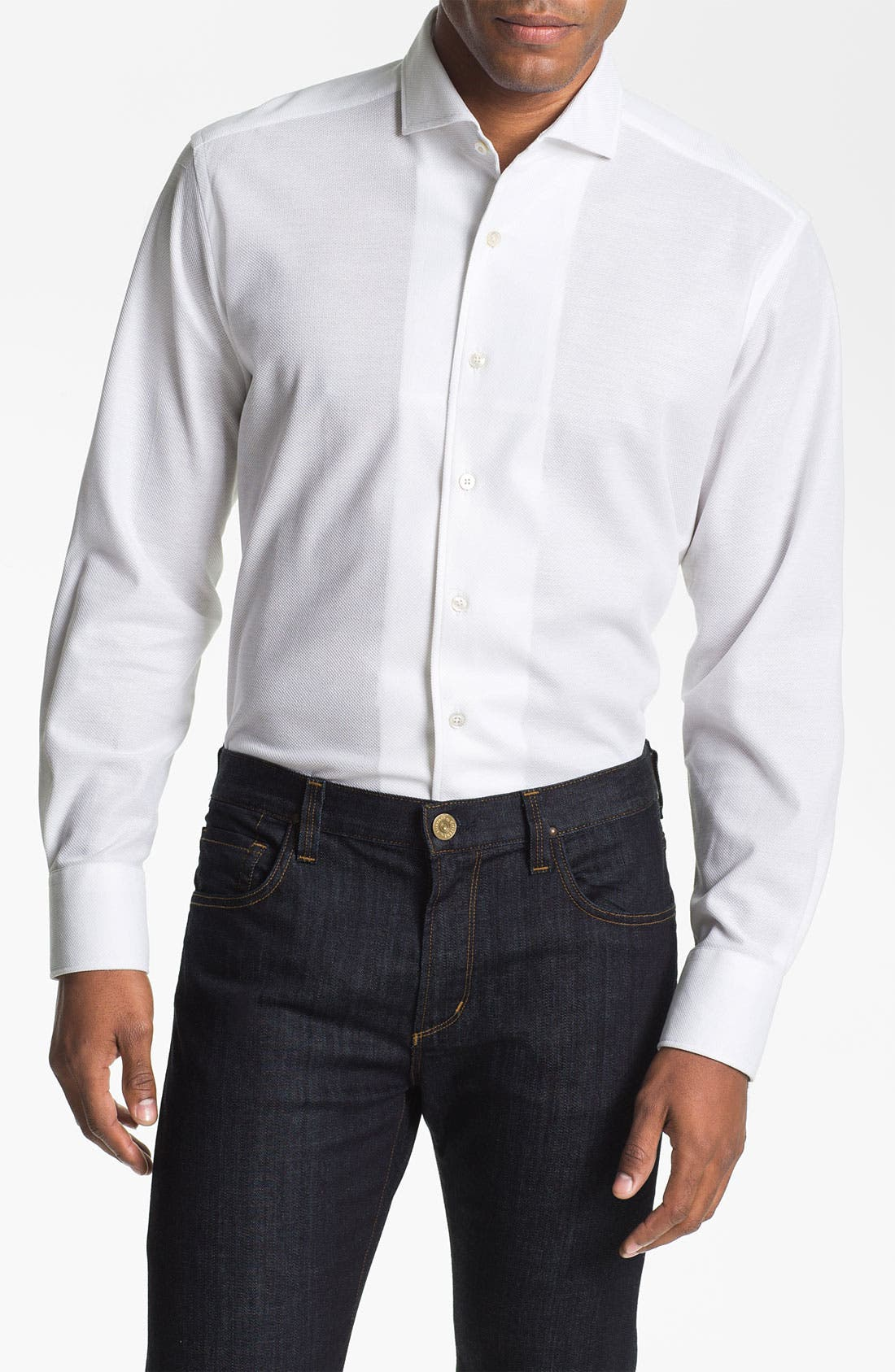 Main Image - Canali Regular Fit Knit Italian Sport Shirt