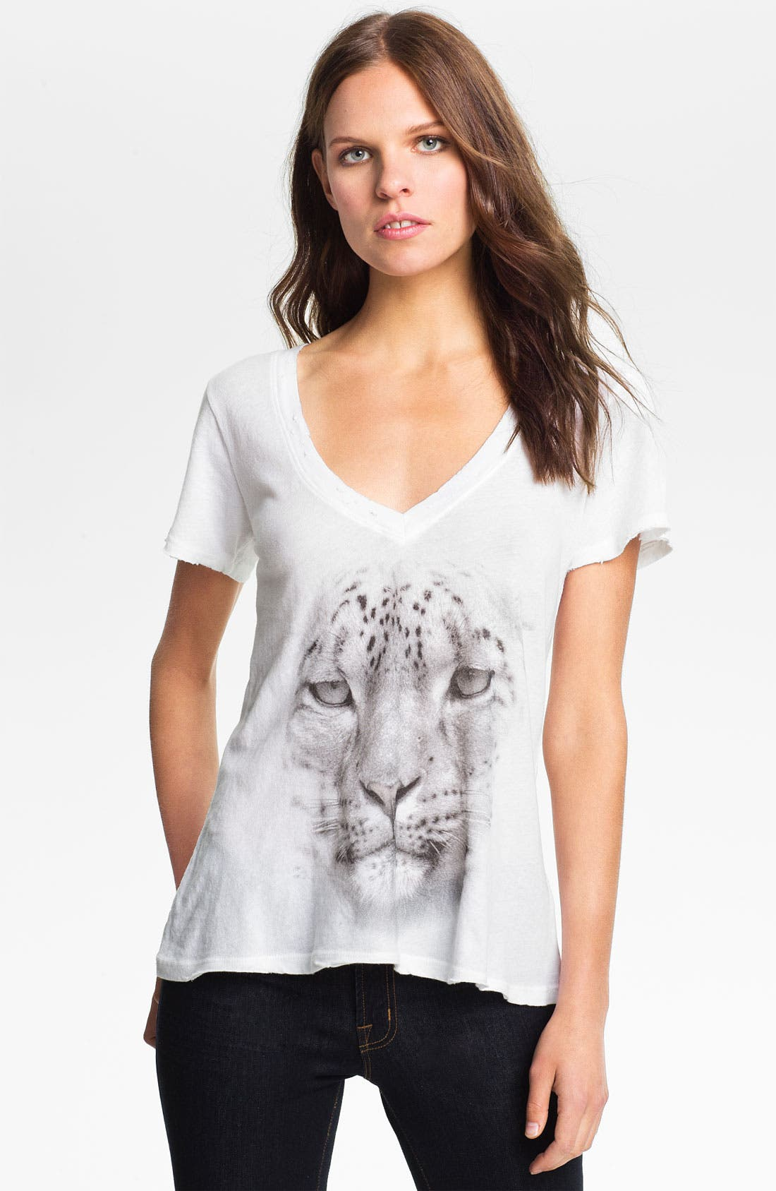 Main Image - Wildfox 'Snow Leopard' Graphic Tee