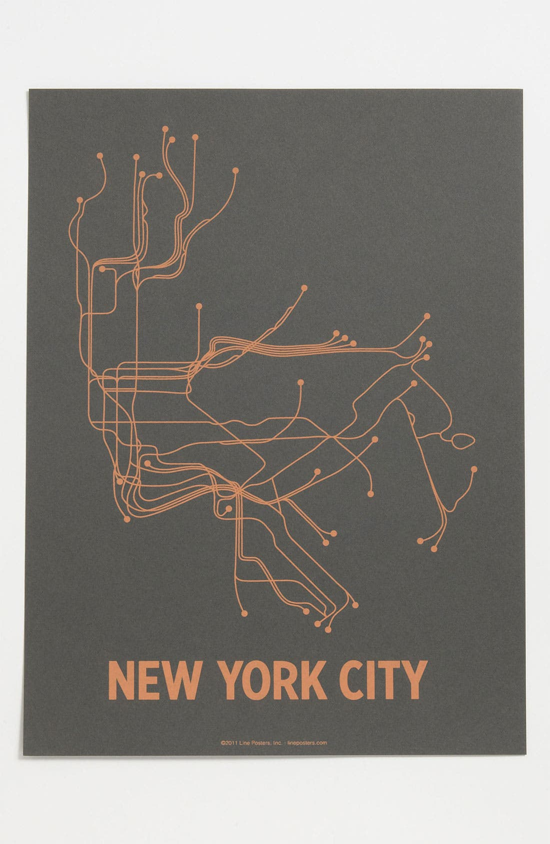 Alternate Image 1 Selected - Line Posters 'New York City Transit System - Small' Print