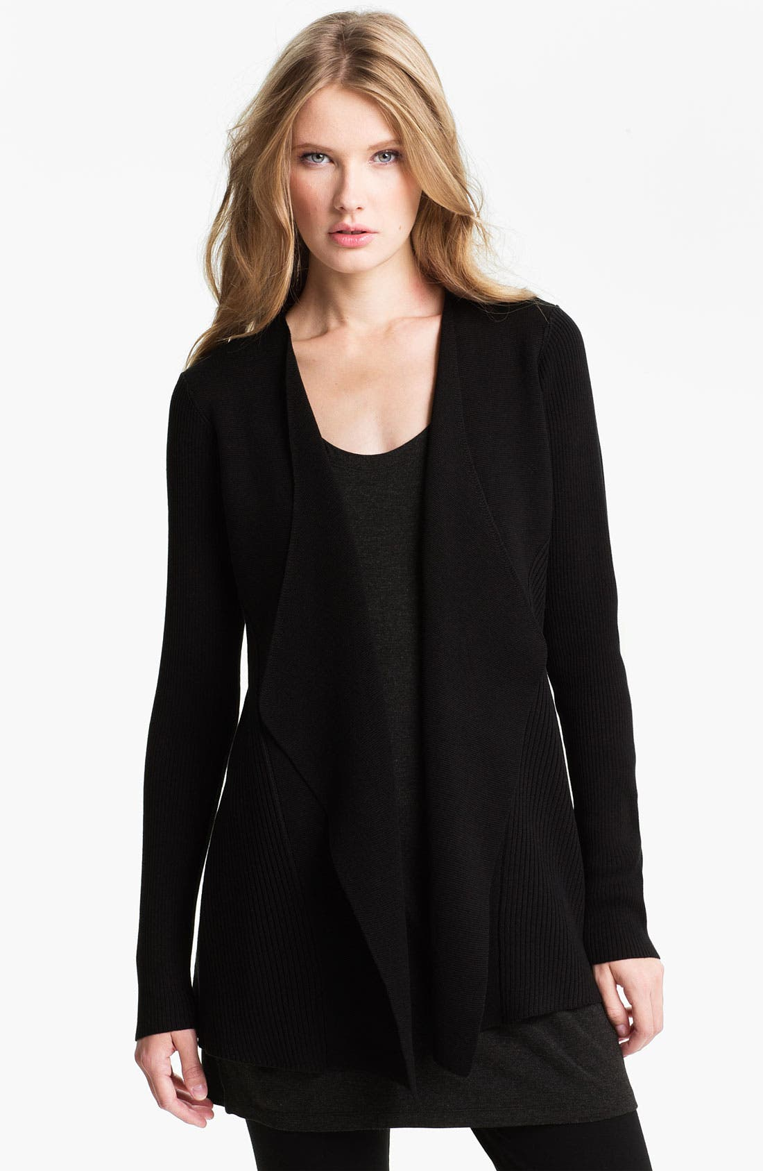 Alternate Image 1 Selected - Eileen Fisher Silk & Cotton Cardigan