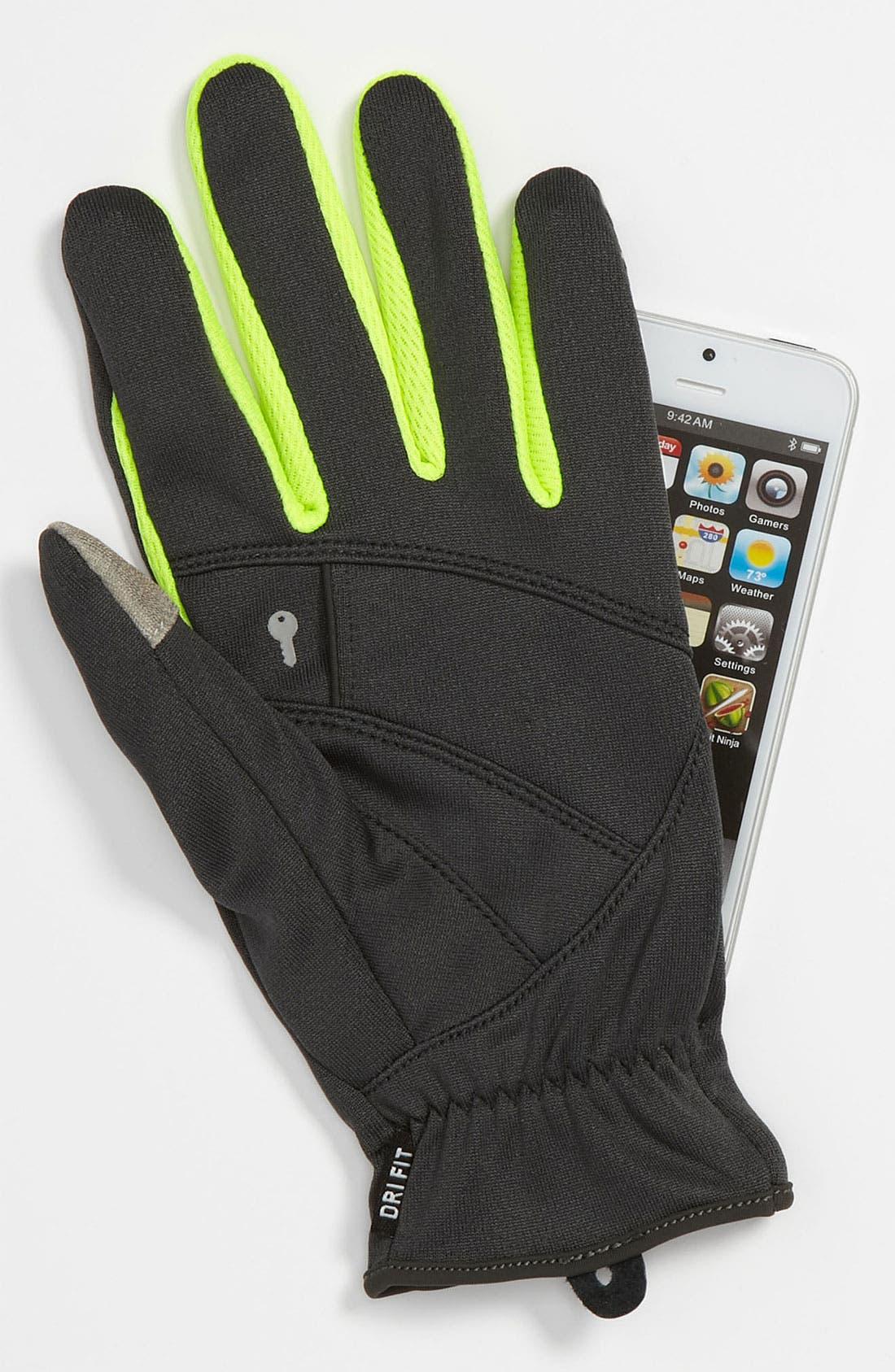 Alternate Image 3  - Nike 'Tech' Lightweight Running Gloves