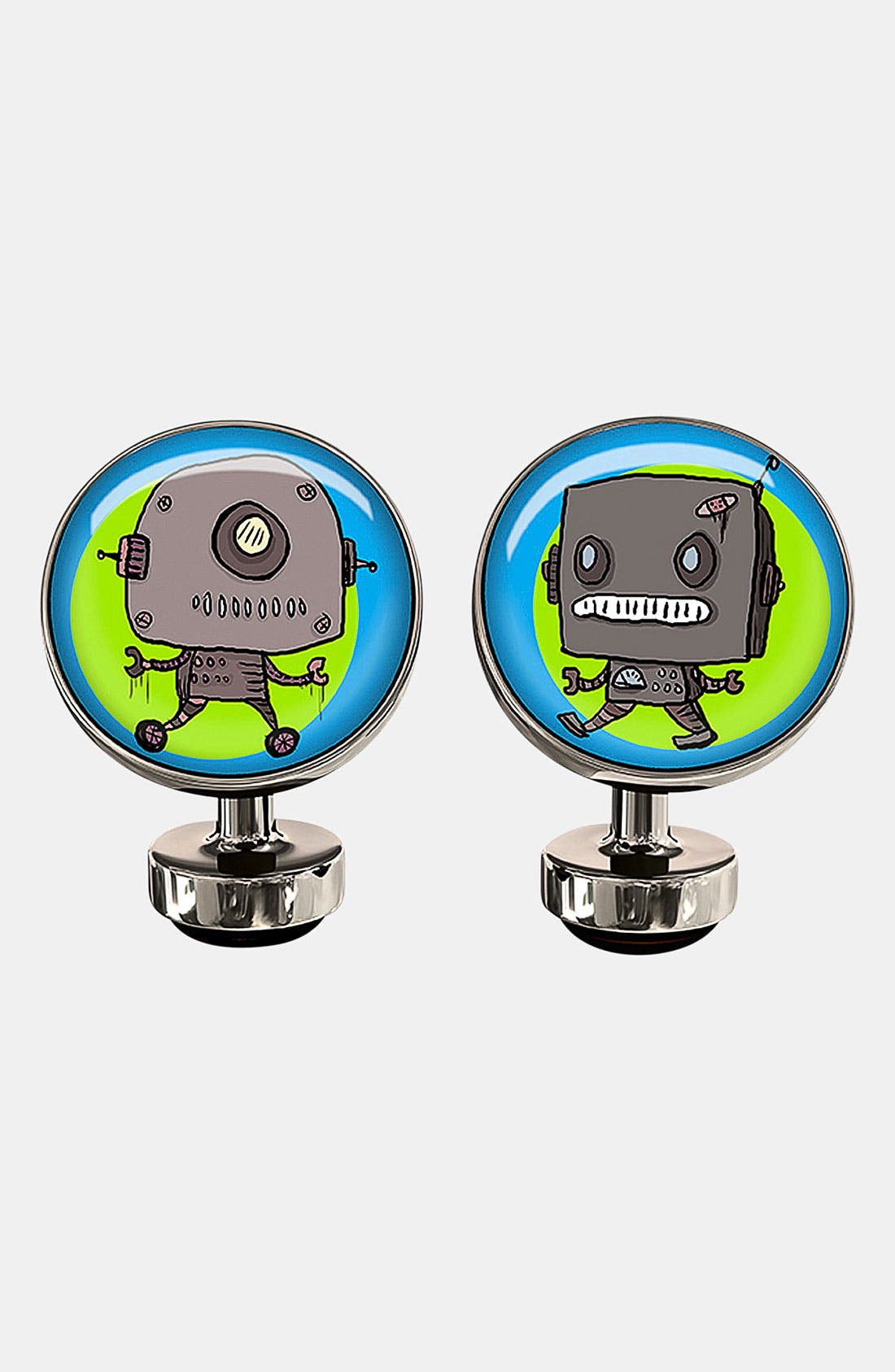 Main Image - Würkin Stiffs 'Rusted Robots' Round Cuff Links