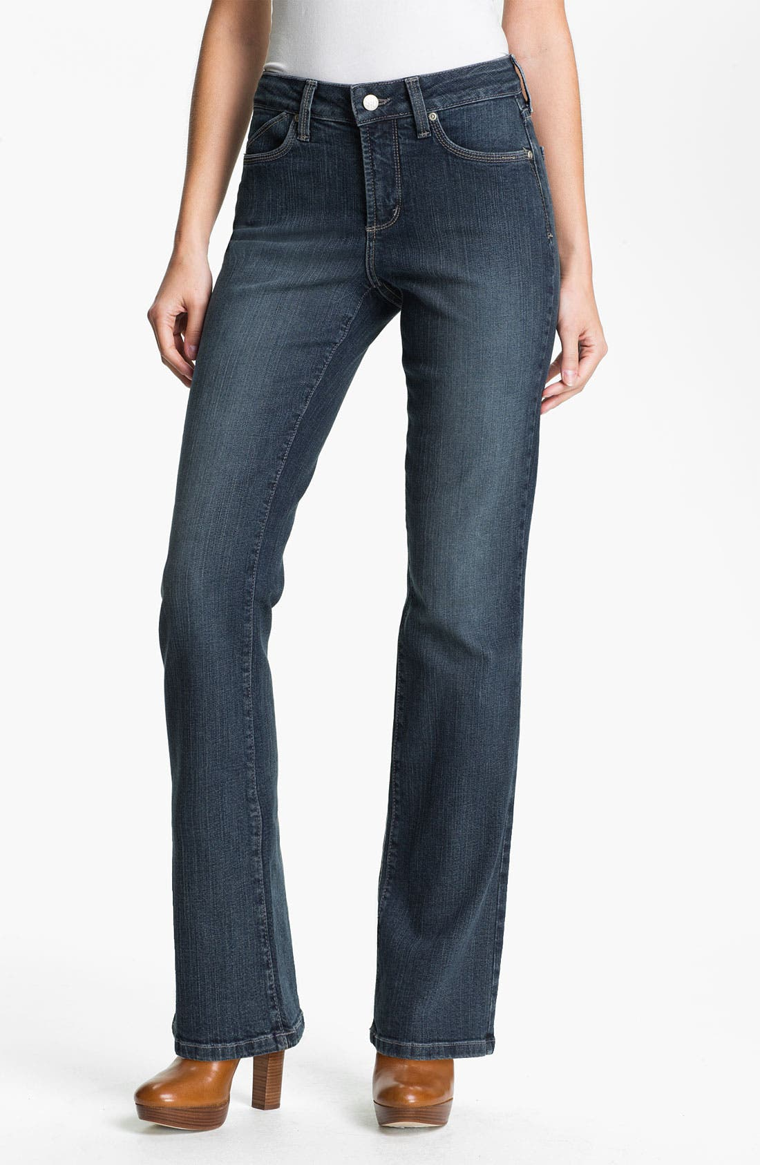 Alternate Image 1 Selected - NYDJ 'Barbara' Stitch Pocket Bootcut Jeans (Petite)