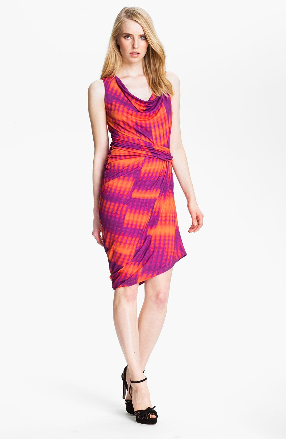 Main Image - Halston Heritage Draped Jersey Knit Dress