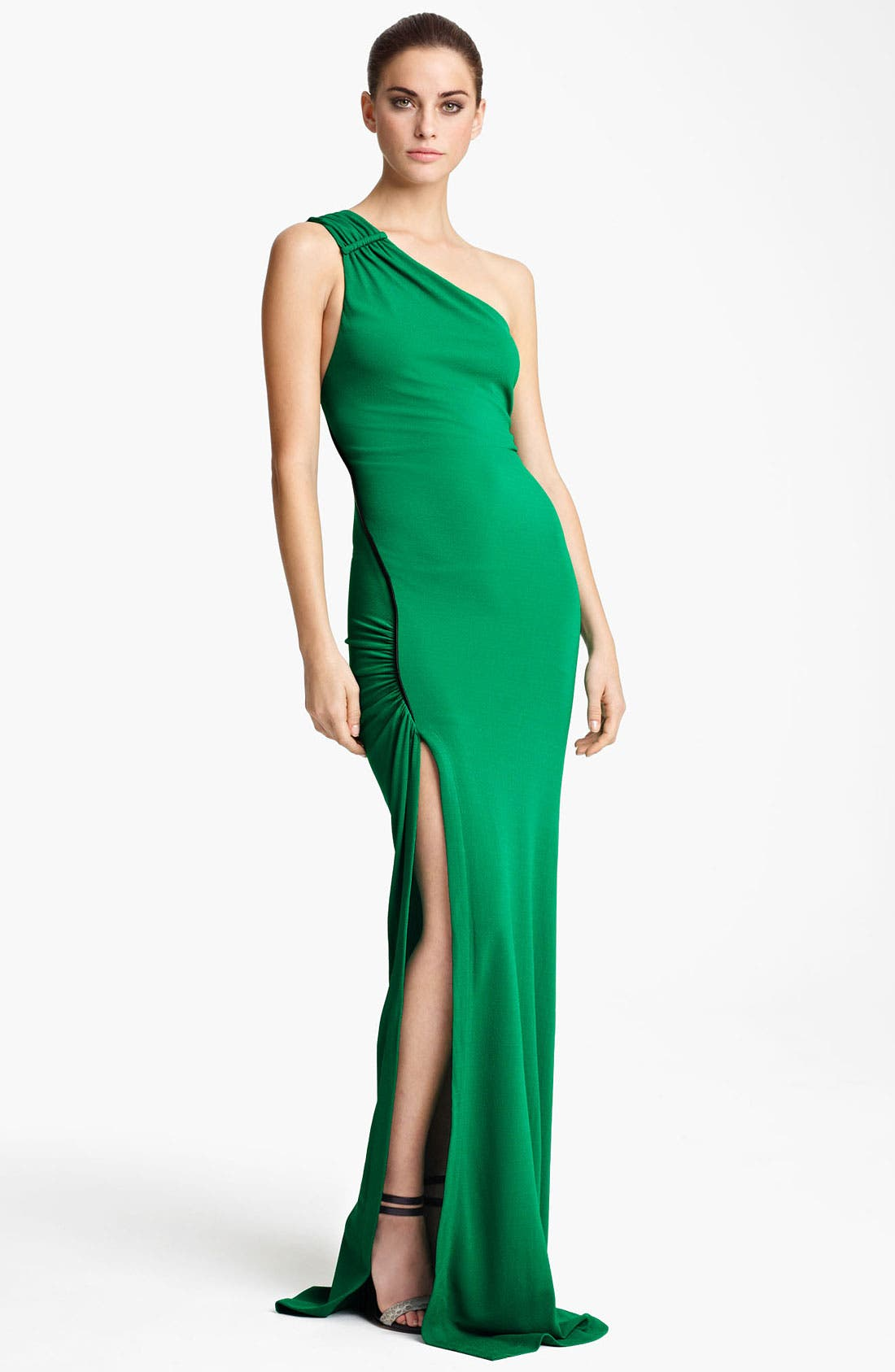 Main Image - Yigal Azrouël One Shoulder Matte Crepe Jersey Gown