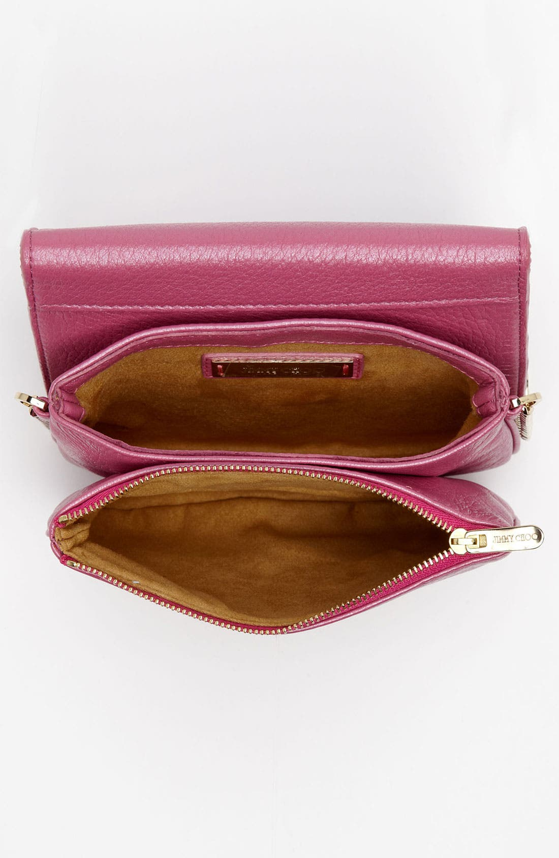 Alternate Image 3  - Jimmy Choo 'Shadow' Pearlized Leather Crossbody Bag