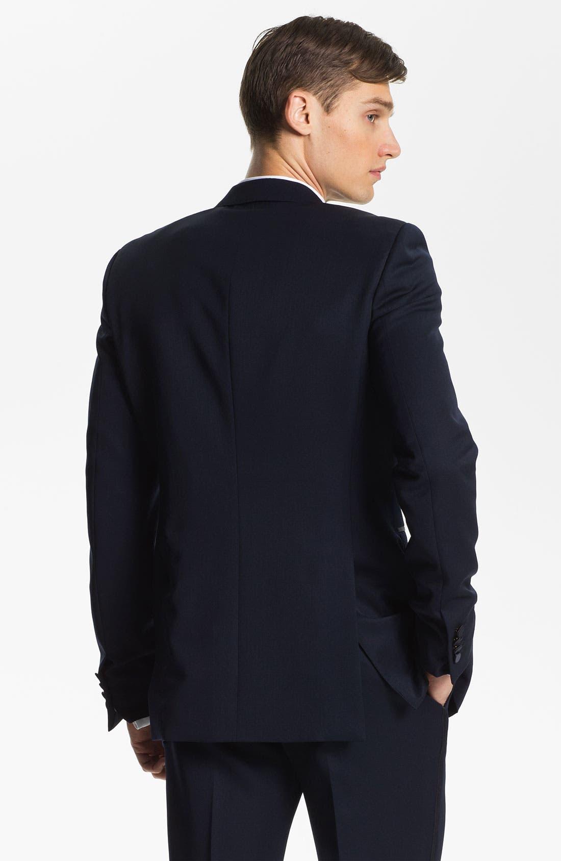 Alternate Image 2  - Burberry Prorsum Peak Lapel Tuxedo Jacket