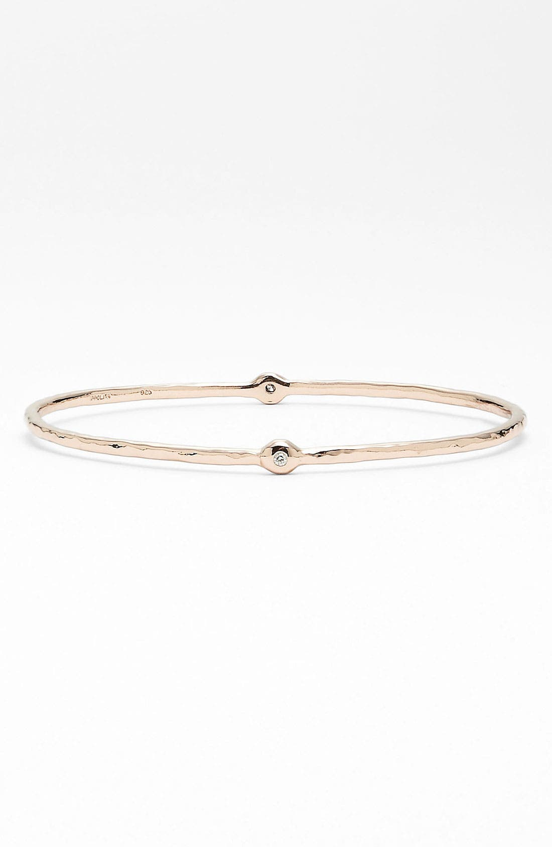 Alternate Image 1 Selected - Ippolita 'Silver Rain' Diamond Station Bangle