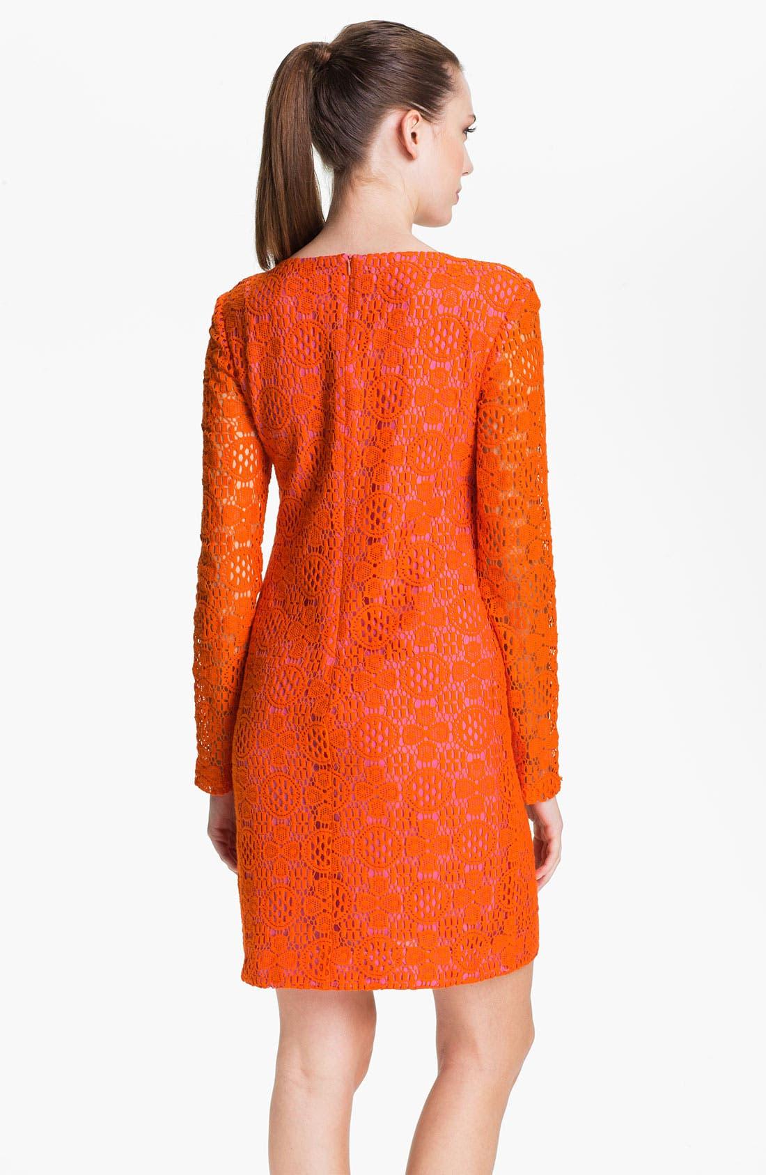 Alternate Image 2  - Trina Turk 'Crandon' Keyhole Detail Lace Shift Dress