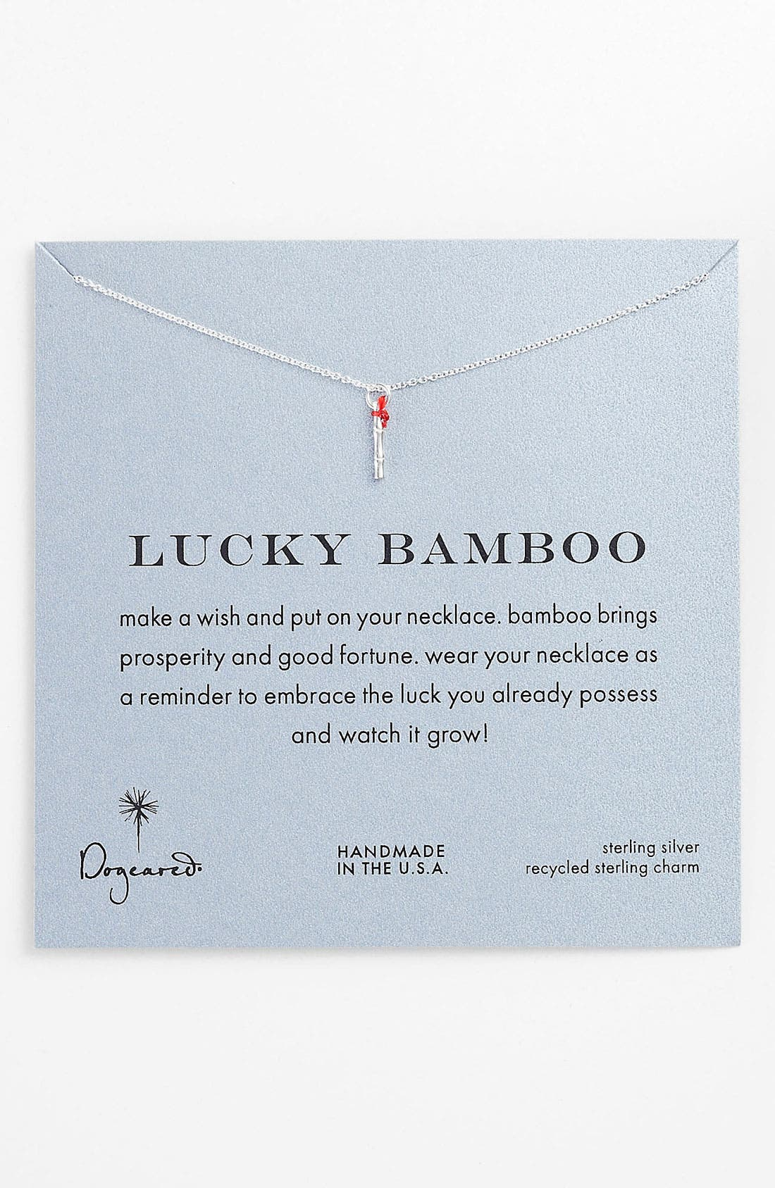 Main Image - Dogeared 'Lucky Bamboo' Pendant Necklace